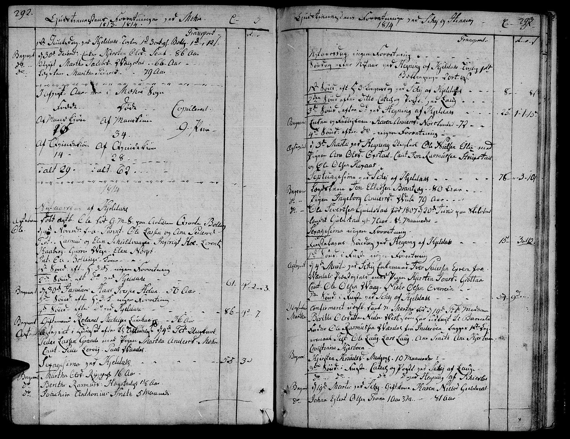 SAT, Ministerialprotokoller, klokkerbøker og fødselsregistre - Nord-Trøndelag, 735/L0332: Ministerialbok nr. 735A03, 1795-1816, s. 292-293