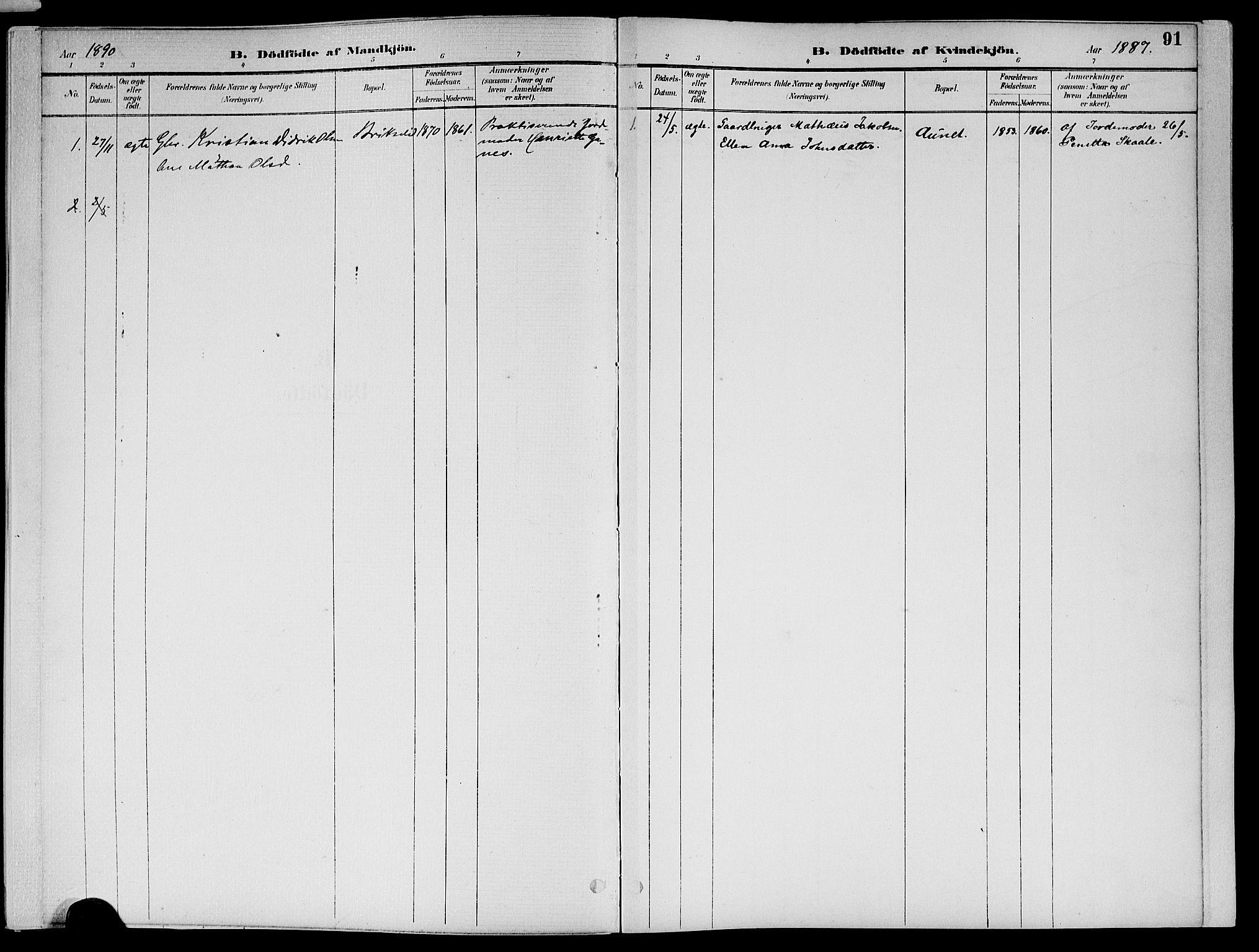 SAT, Ministerialprotokoller, klokkerbøker og fødselsregistre - Nord-Trøndelag, 773/L0617: Ministerialbok nr. 773A08, 1887-1910, s. 91