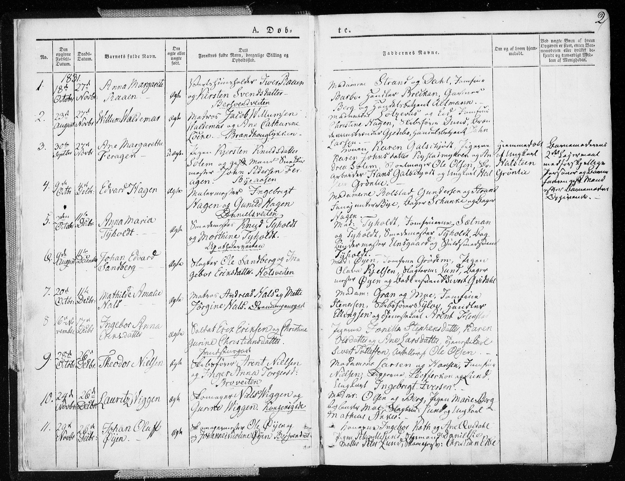 SAT, Ministerialprotokoller, klokkerbøker og fødselsregistre - Sør-Trøndelag, 601/L0047: Ministerialbok nr. 601A15, 1831-1839, s. 2