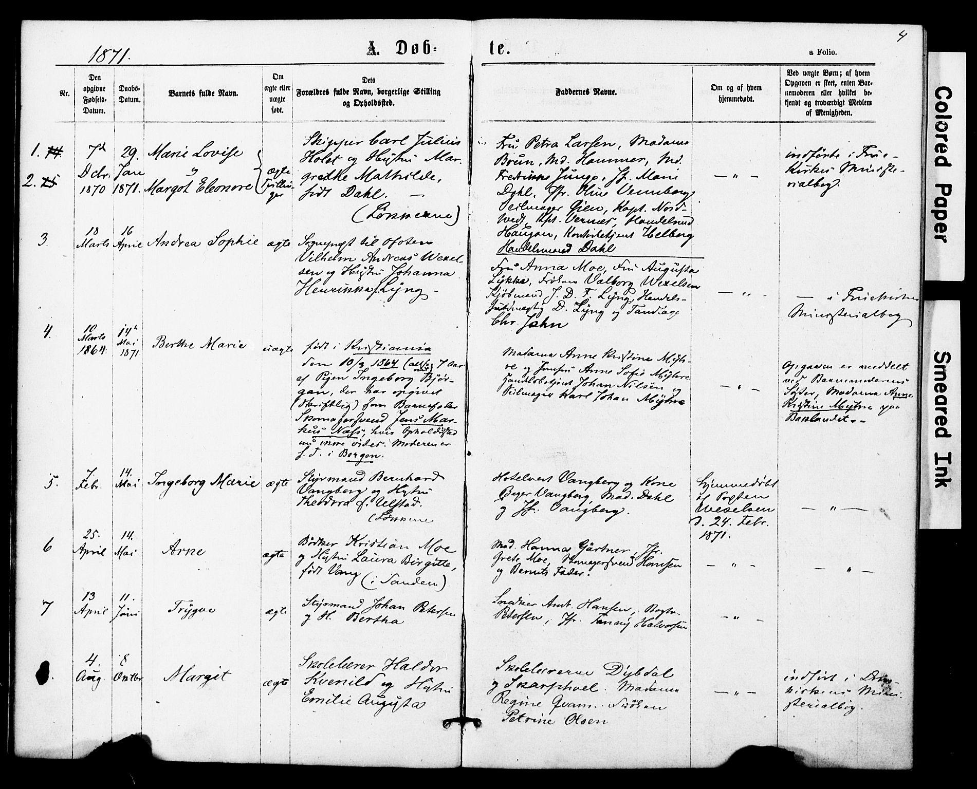 SAT, Ministerialprotokoller, klokkerbøker og fødselsregistre - Sør-Trøndelag, 623/L0469: Ministerialbok nr. 623A03, 1868-1883, s. 4