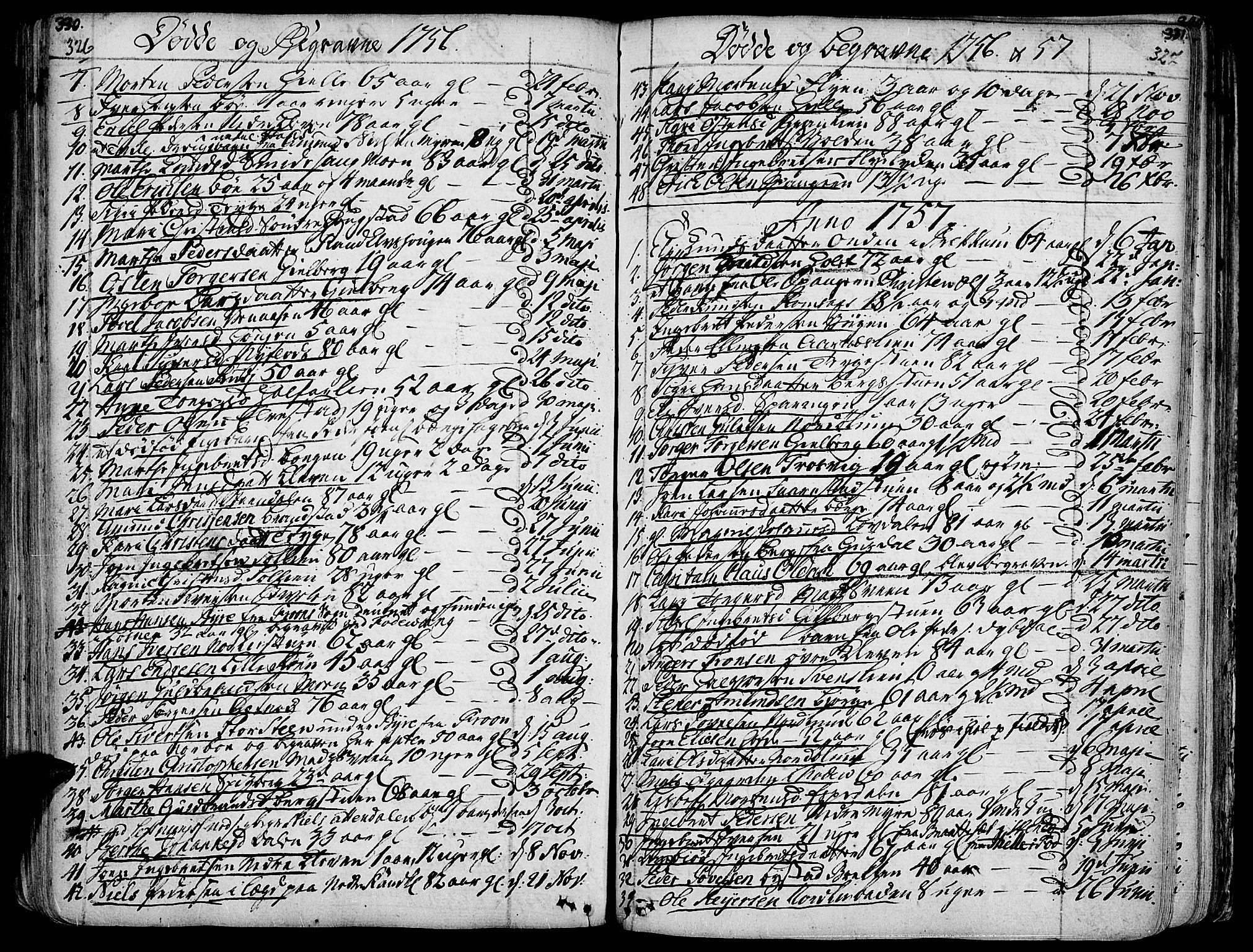 SAH, Ringebu prestekontor, Ministerialbok nr. 2, 1734-1780, s. 326-327