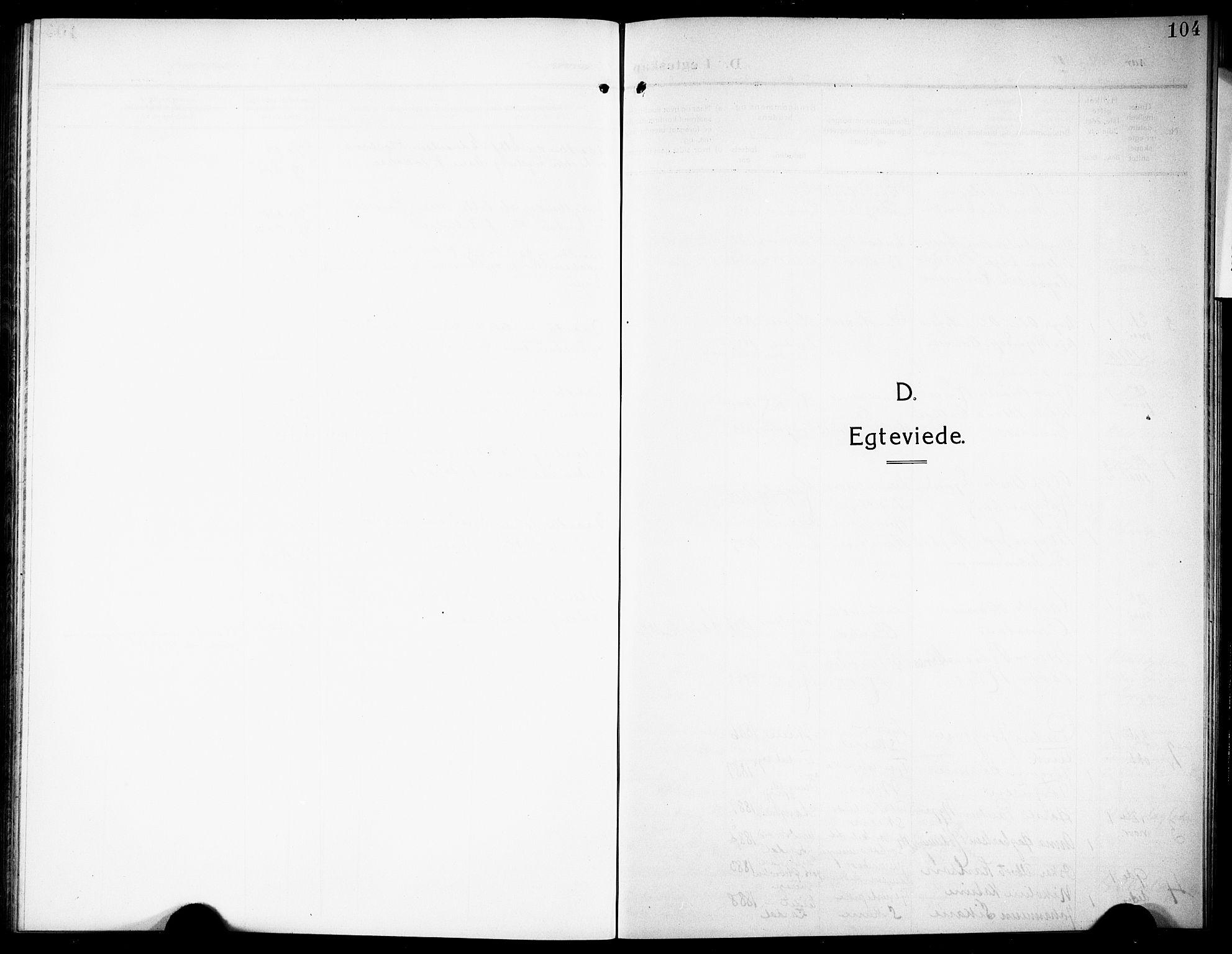 SAKO, Siljan kirkebøker, G/Ga/L0003: Klokkerbok nr. 3, 1909-1927, s. 104
