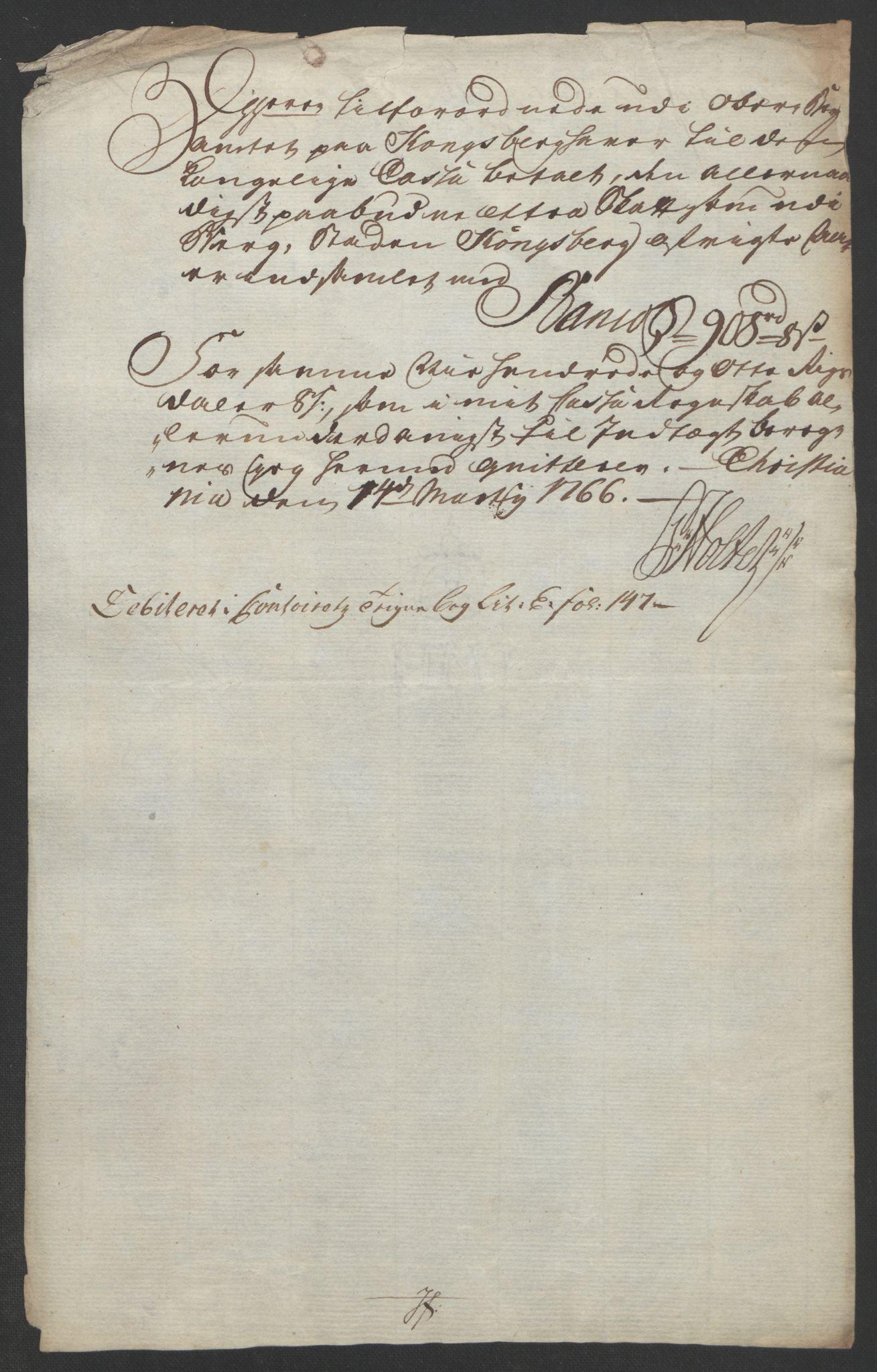 RA, Rentekammeret inntil 1814, Reviderte regnskaper, Bergverksregnskaper, R/Rc/Rca/L0843: Ekstraskatt, 1762-1765, s. 1120