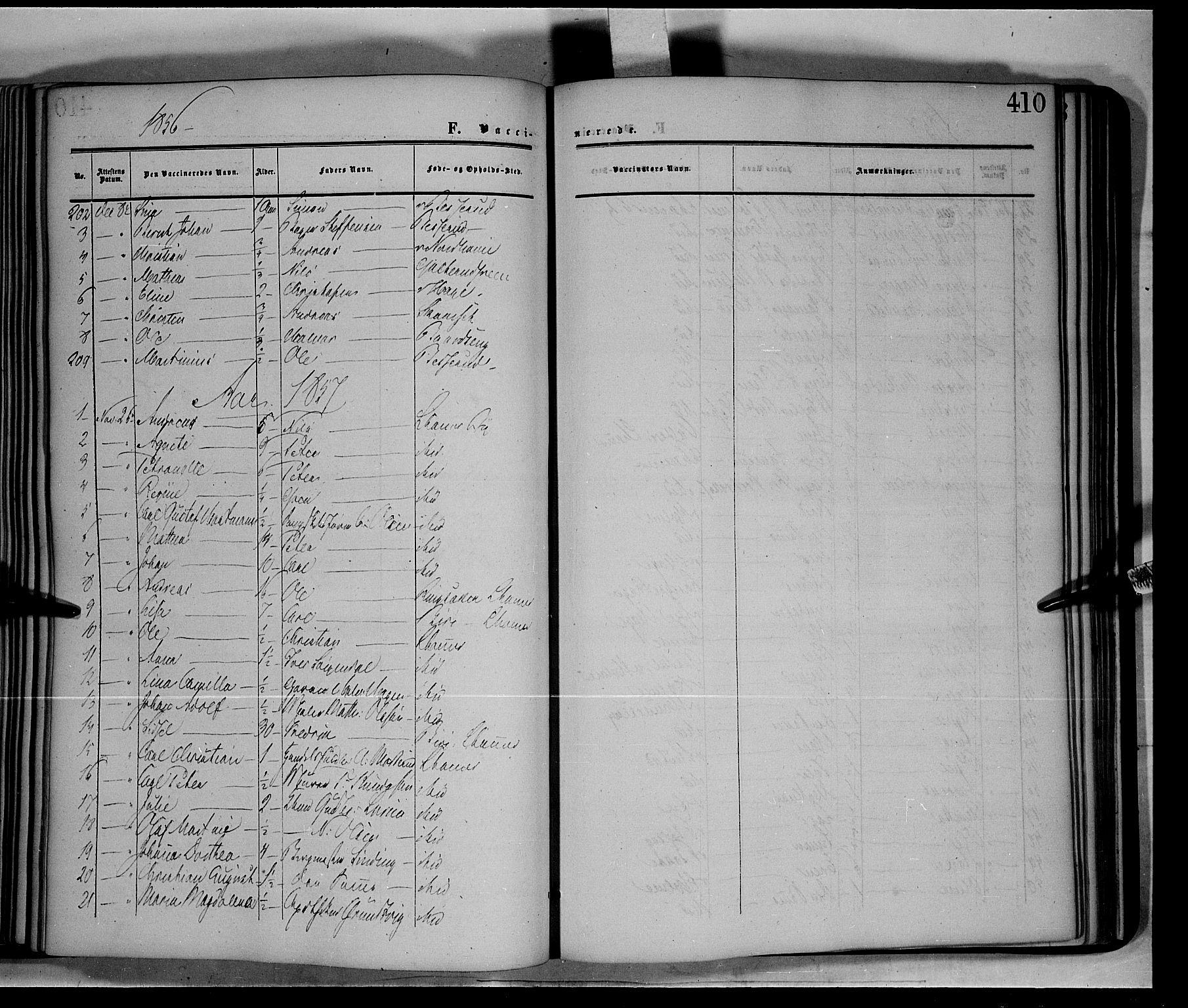 SAH, Fåberg prestekontor, Ministerialbok nr. 6B, 1855-1867, s. 410
