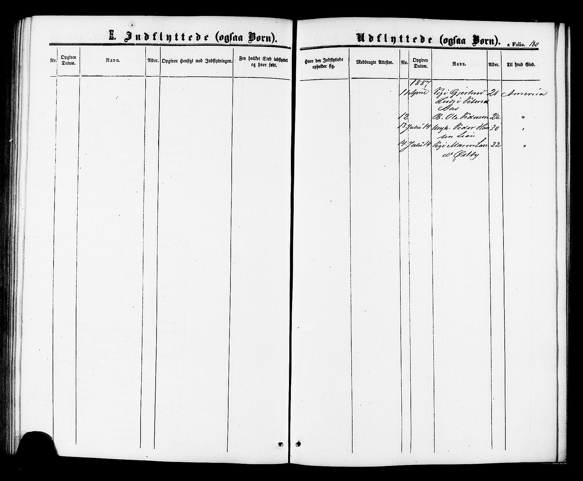 SAT, Ministerialprotokoller, klokkerbøker og fødselsregistre - Sør-Trøndelag, 698/L1163: Ministerialbok nr. 698A01, 1862-1887, s. 180
