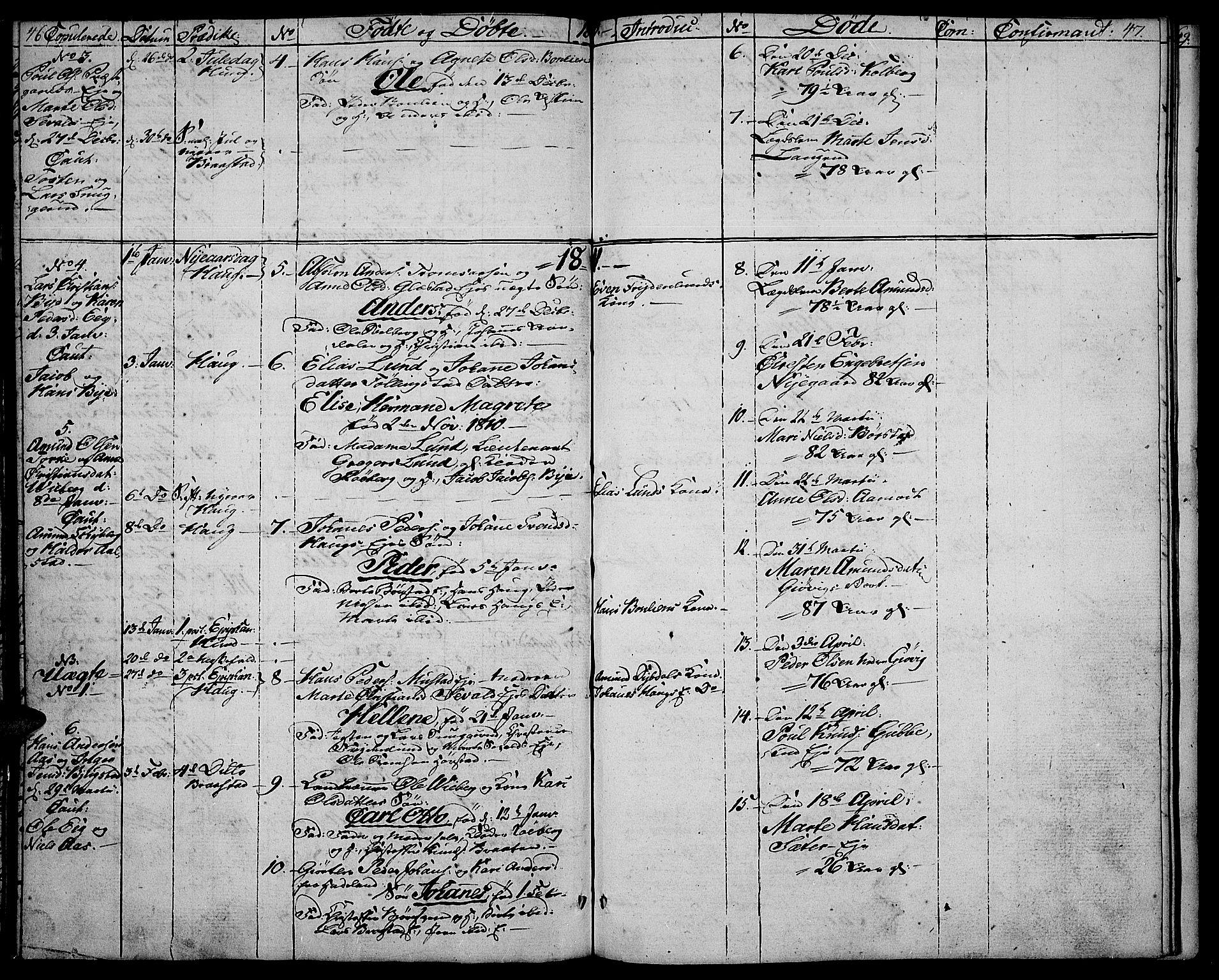 SAH, Vardal prestekontor, H/Ha/Haa/L0003: Ministerialbok nr. 3, 1808-1814, s. 46-47