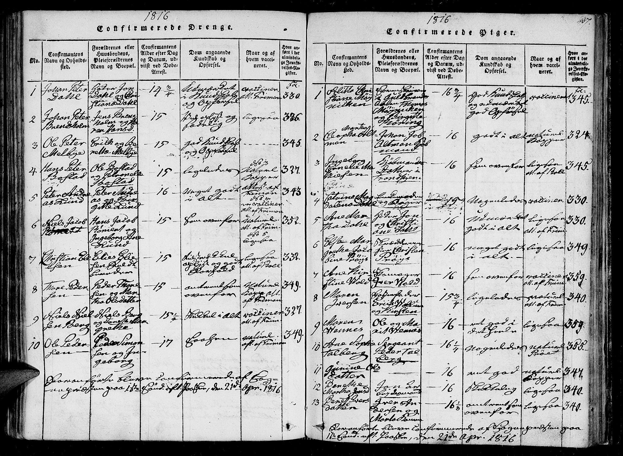 SAT, Ministerialprotokoller, klokkerbøker og fødselsregistre - Sør-Trøndelag, 602/L0107: Ministerialbok nr. 602A05, 1815-1821, s. 237
