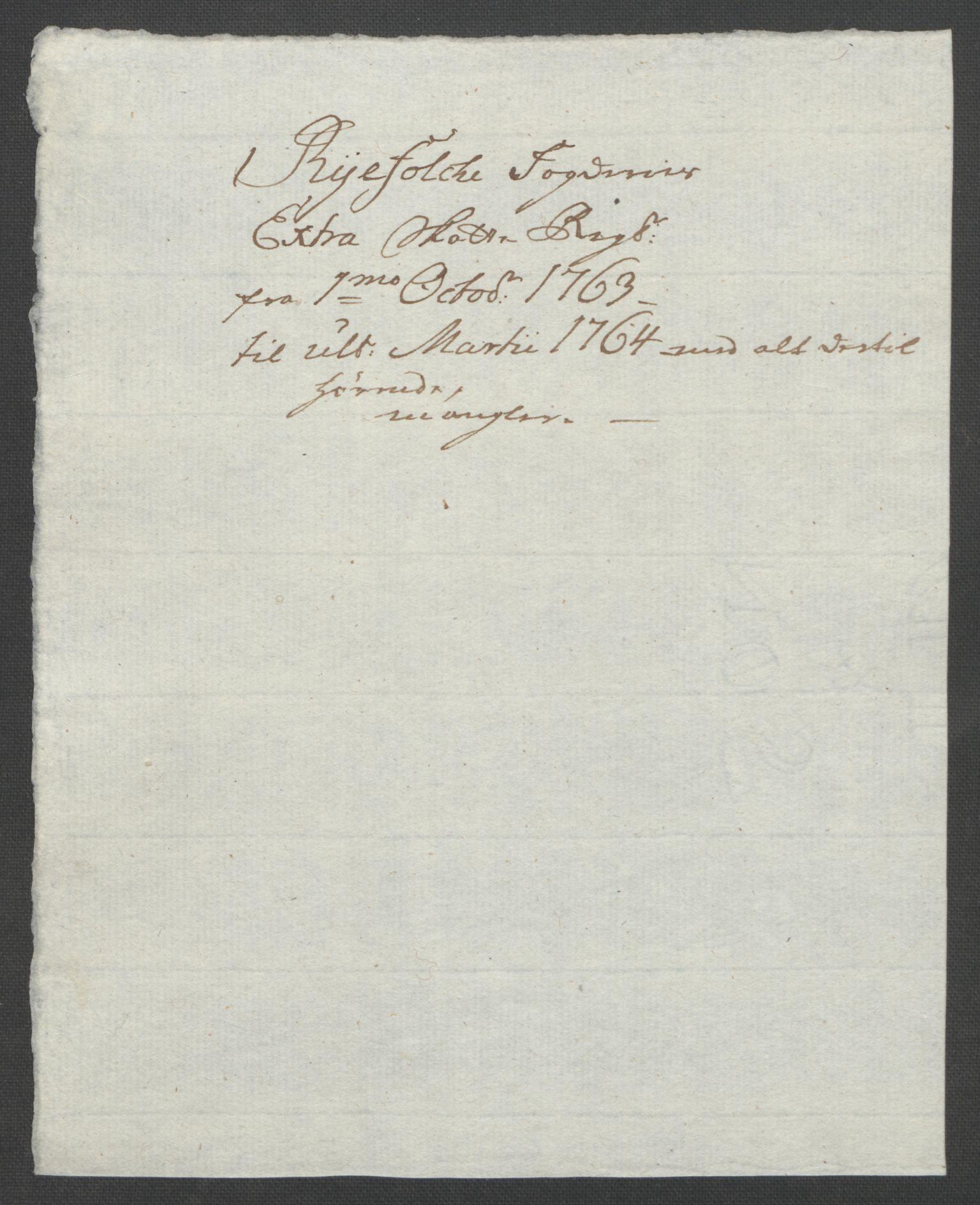 RA, Rentekammeret inntil 1814, Reviderte regnskaper, Fogderegnskap, R47/L2972: Ekstraskatten Ryfylke, 1762-1780, s. 5