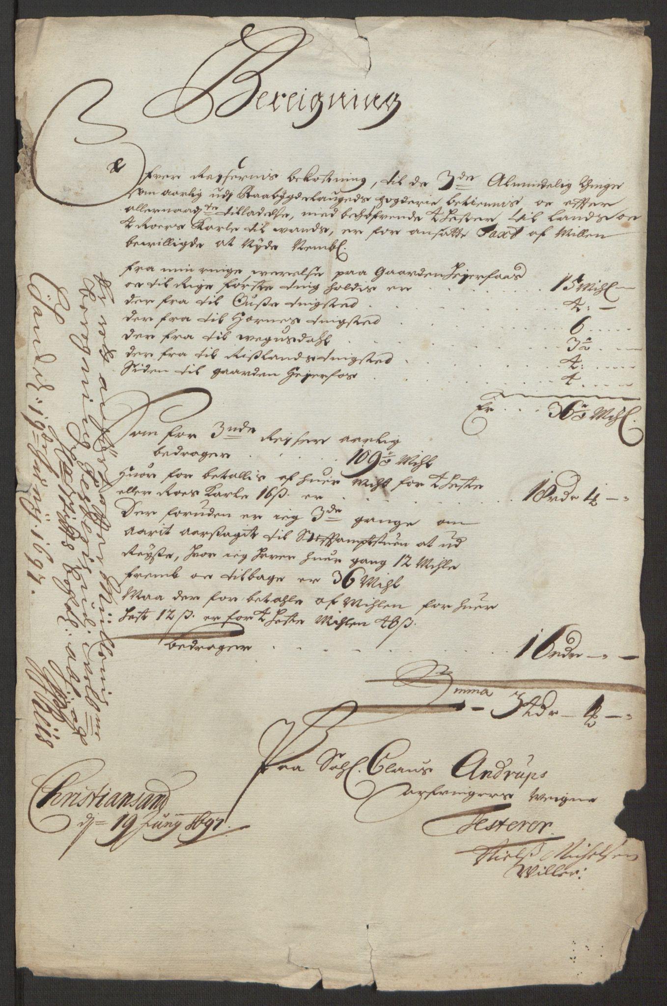 RA, Rentekammeret inntil 1814, Reviderte regnskaper, Fogderegnskap, R40/L2444: Fogderegnskap Råbyggelag, 1693-1696, s. 367