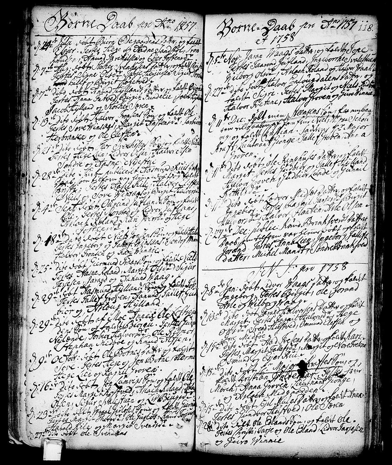 SAKO, Vinje kirkebøker, F/Fa/L0001: Ministerialbok nr. I 1, 1717-1766, s. 118