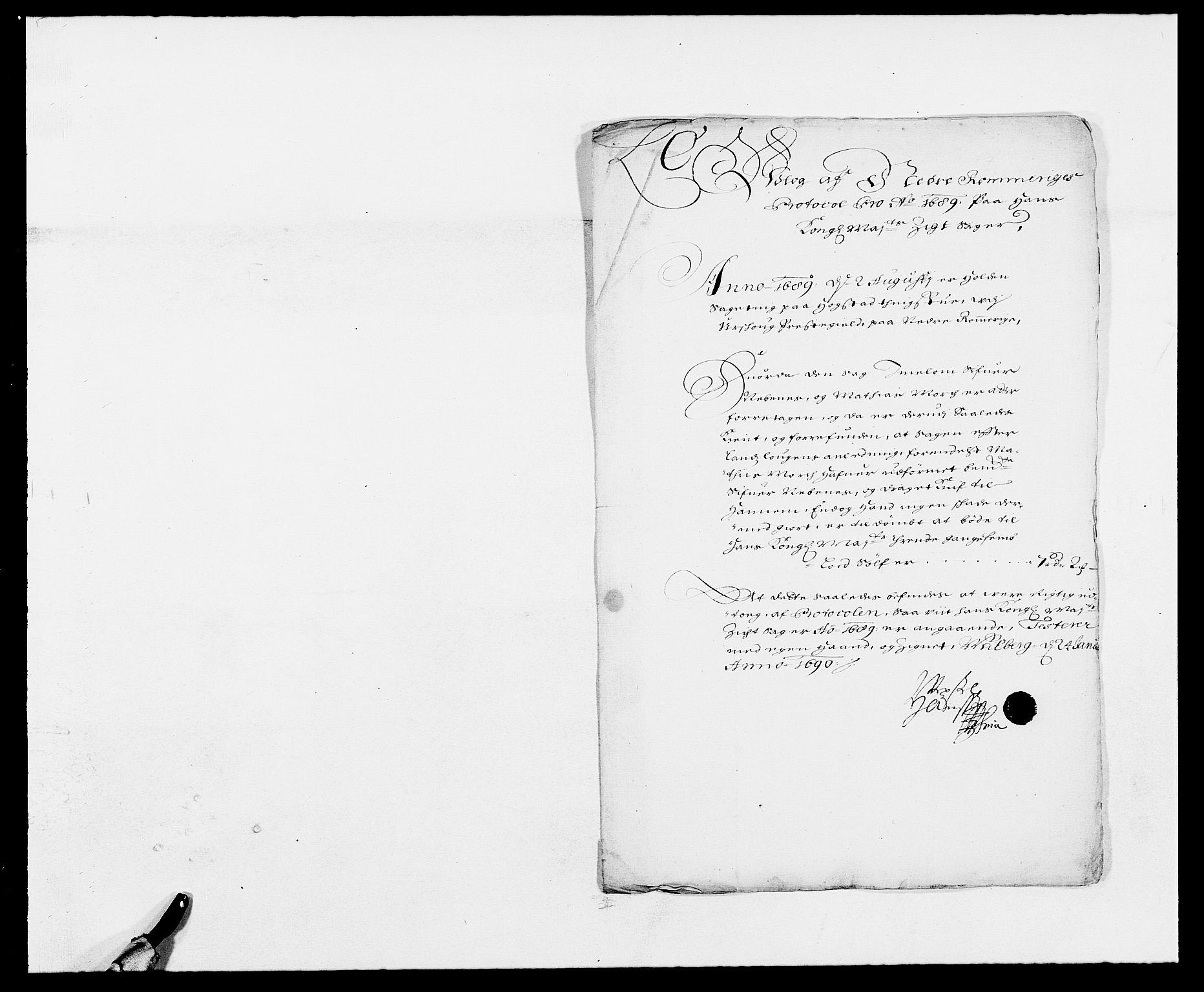 RA, Rentekammeret inntil 1814, Reviderte regnskaper, Fogderegnskap, R11/L0574: Fogderegnskap Nedre Romerike, 1689-1690, s. 12
