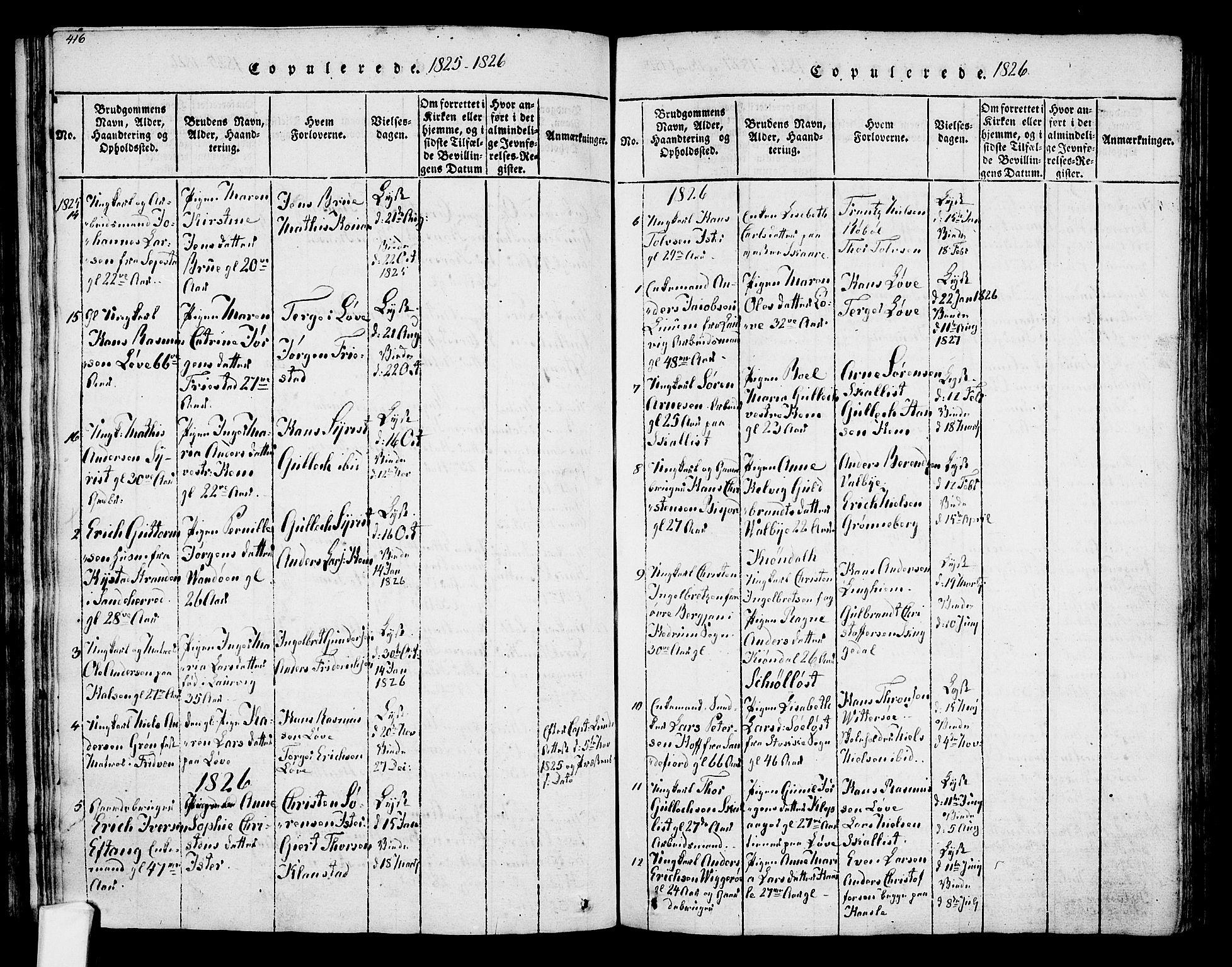 SAKO, Tjølling kirkebøker, F/Fa/L0005: Ministerialbok nr. 5, 1814-1836, s. 418-419