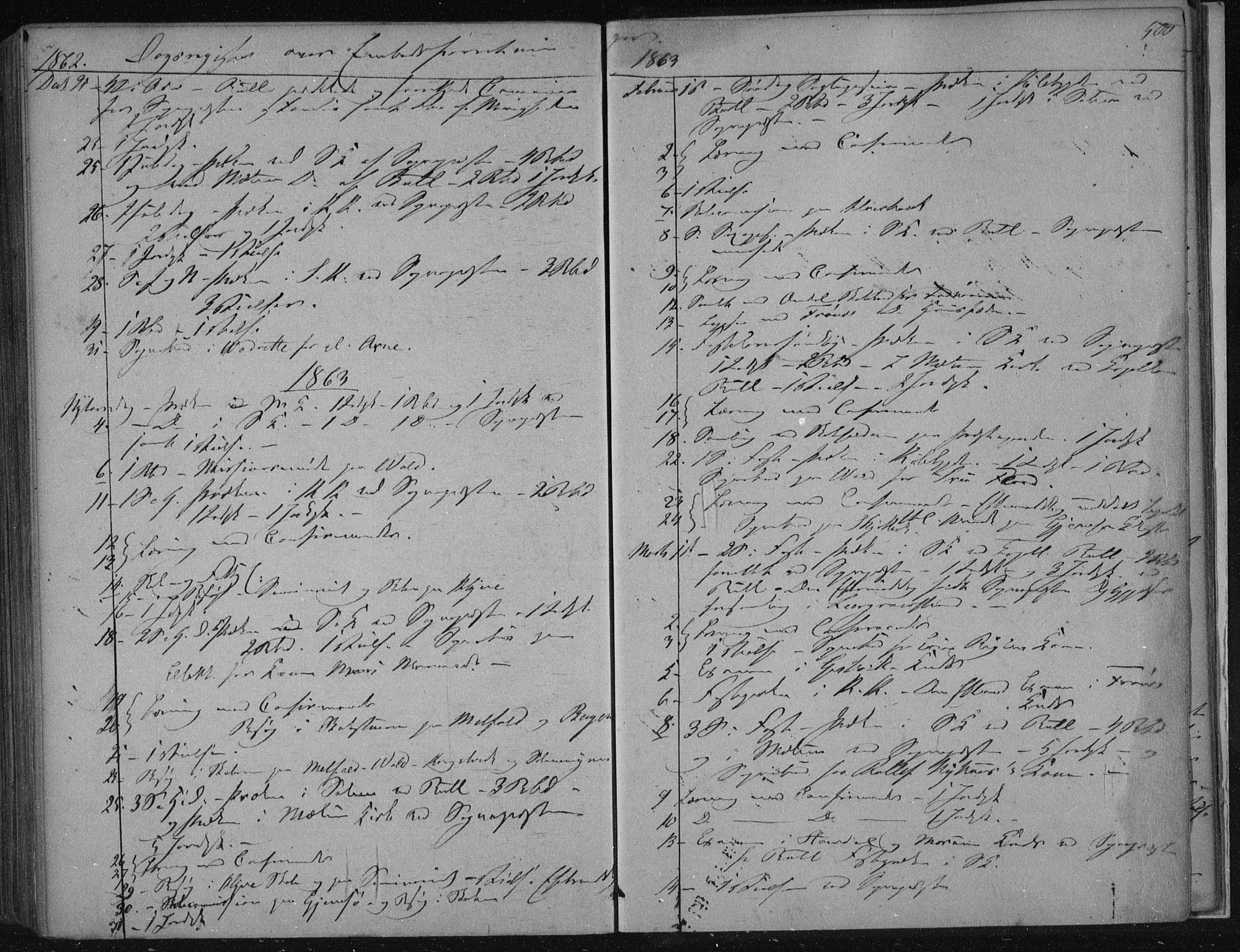 SAKO, Solum kirkebøker, F/Fa/L0007: Ministerialbok nr. I 7, 1856-1864, s. 500