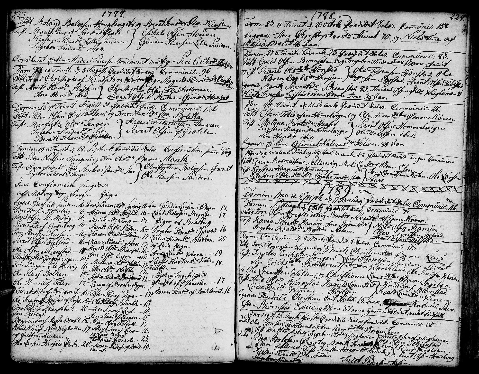 SAT, Ministerialprotokoller, klokkerbøker og fødselsregistre - Sør-Trøndelag, 606/L0281: Ministerialbok nr. 606A02 /2, 1781-1817, s. 227-228