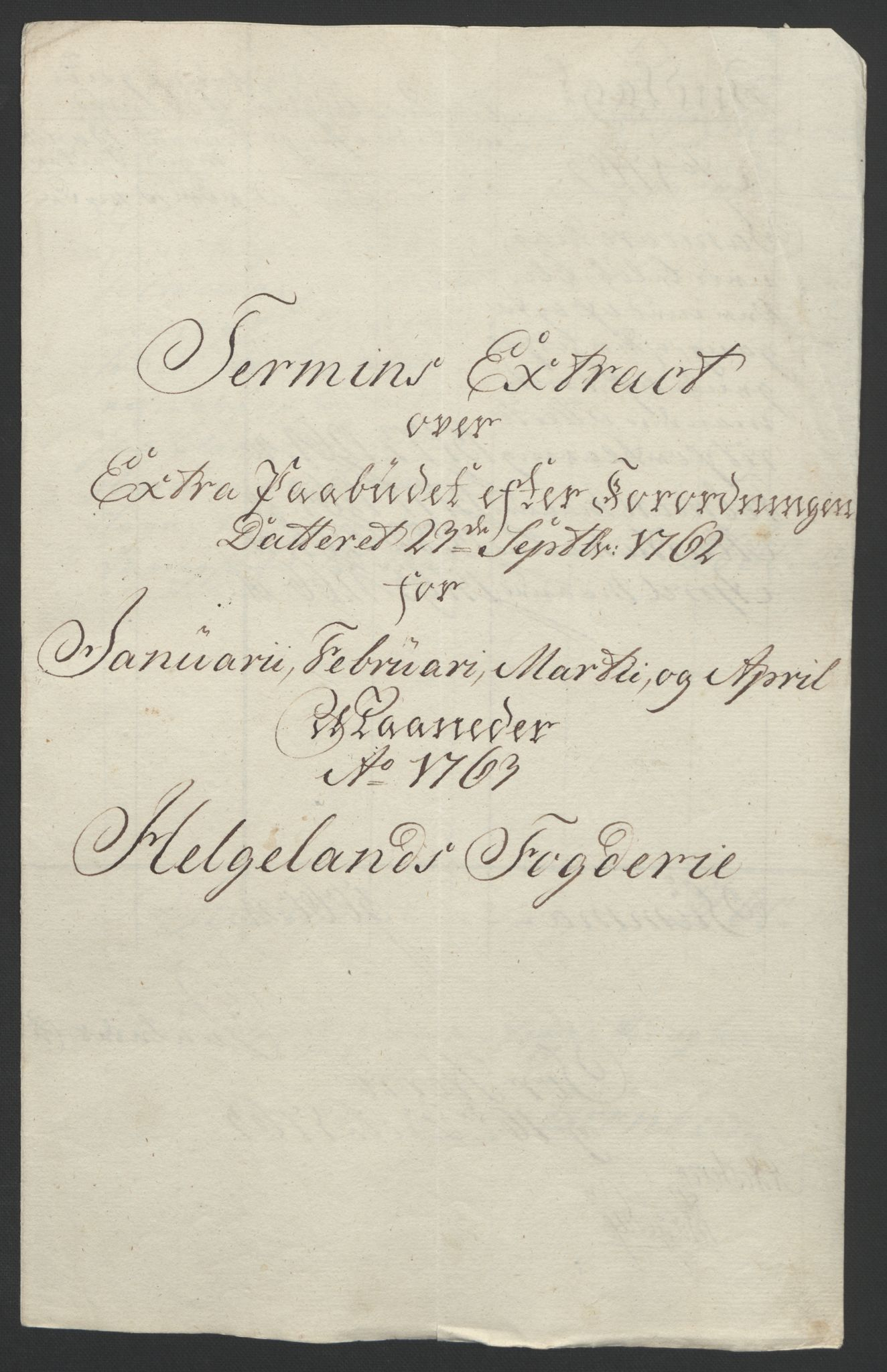 RA, Rentekammeret inntil 1814, Reviderte regnskaper, Fogderegnskap, R65/L4573: Ekstraskatten Helgeland, 1762-1772, s. 25