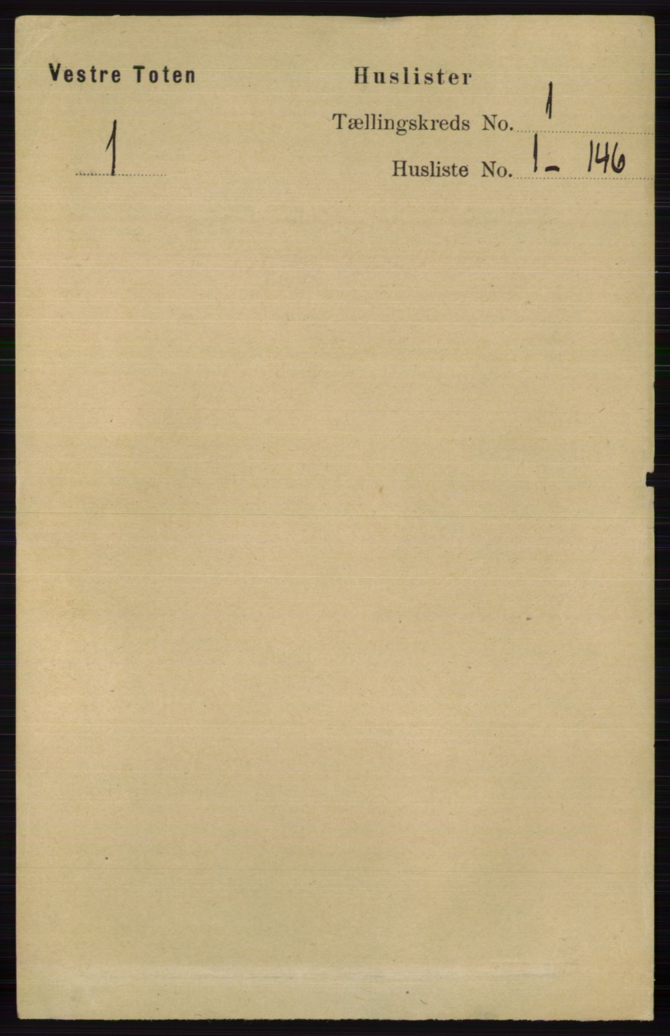 RA, Folketelling 1891 for 0529 Vestre Toten herred, 1891, s. 42