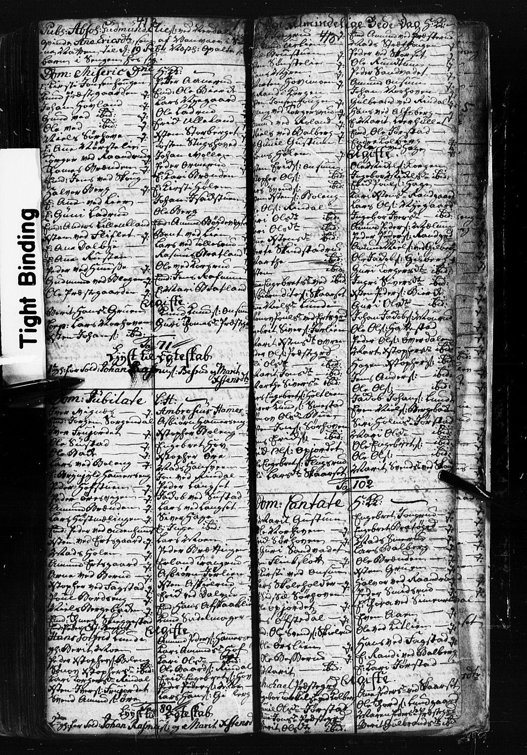 SAH, Fåberg prestekontor, Klokkerbok nr. 1, 1727-1767, s. 412-413