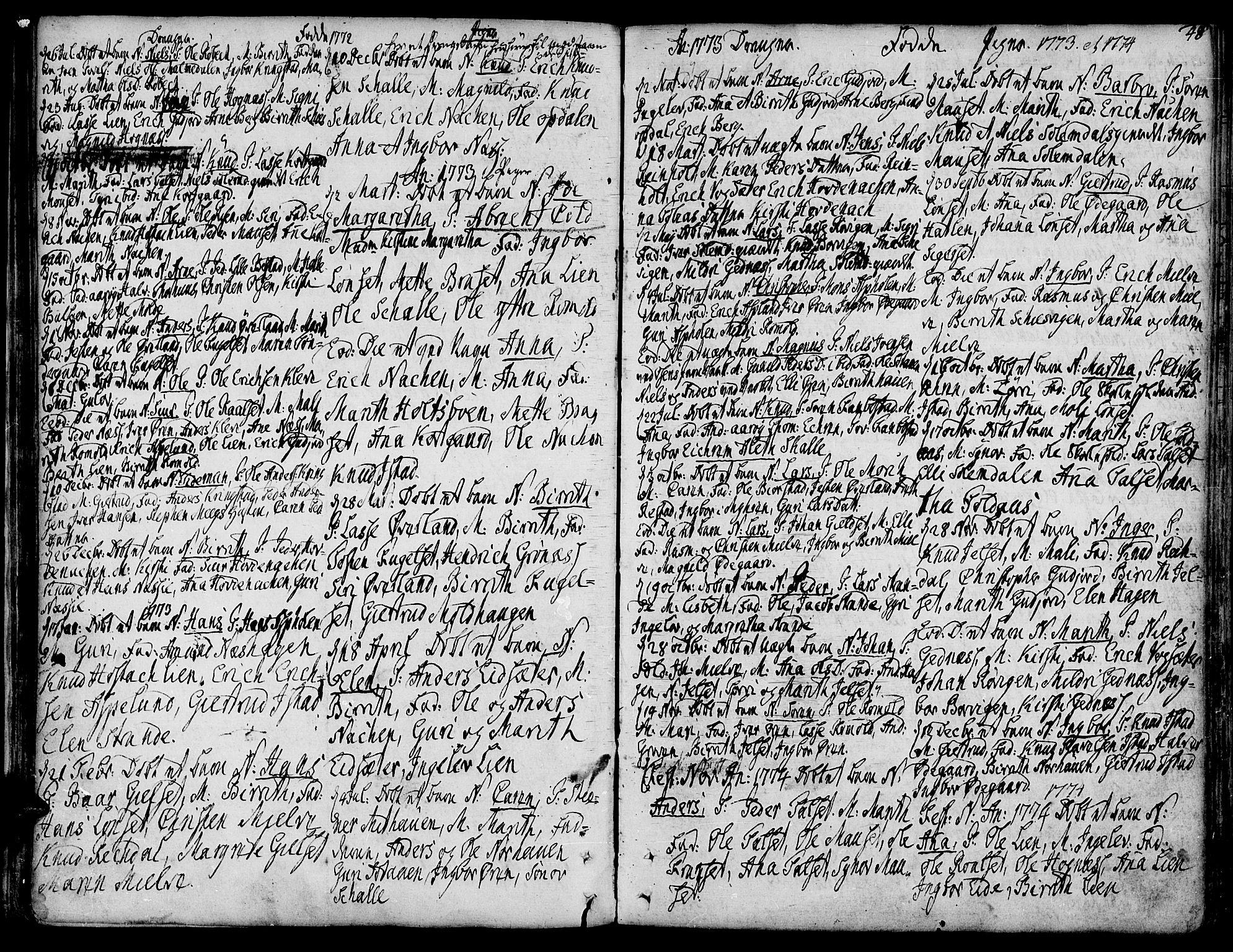 SAT, Ministerialprotokoller, klokkerbøker og fødselsregistre - Møre og Romsdal, 555/L0648: Ministerialbok nr. 555A01, 1759-1793, s. 48