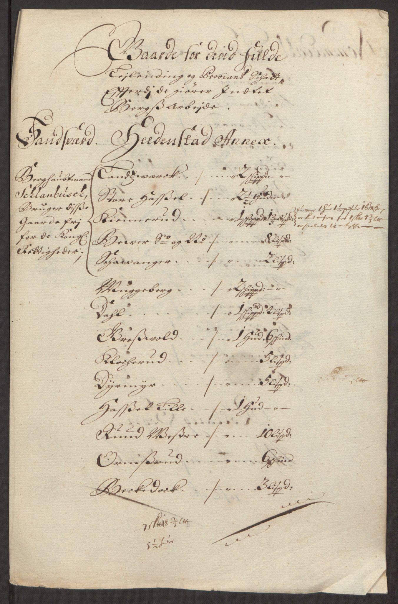 RA, Rentekammeret inntil 1814, Reviderte regnskaper, Fogderegnskap, R24/L1575: Fogderegnskap Numedal og Sandsvær, 1692-1695, s. 217