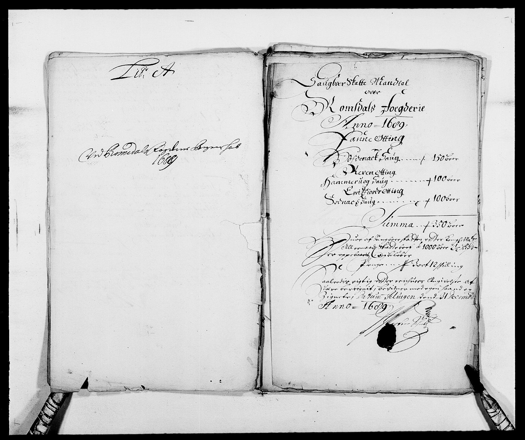 RA, Rentekammeret inntil 1814, Reviderte regnskaper, Fogderegnskap, R55/L3648: Fogderegnskap Romsdal, 1687-1689, s. 317