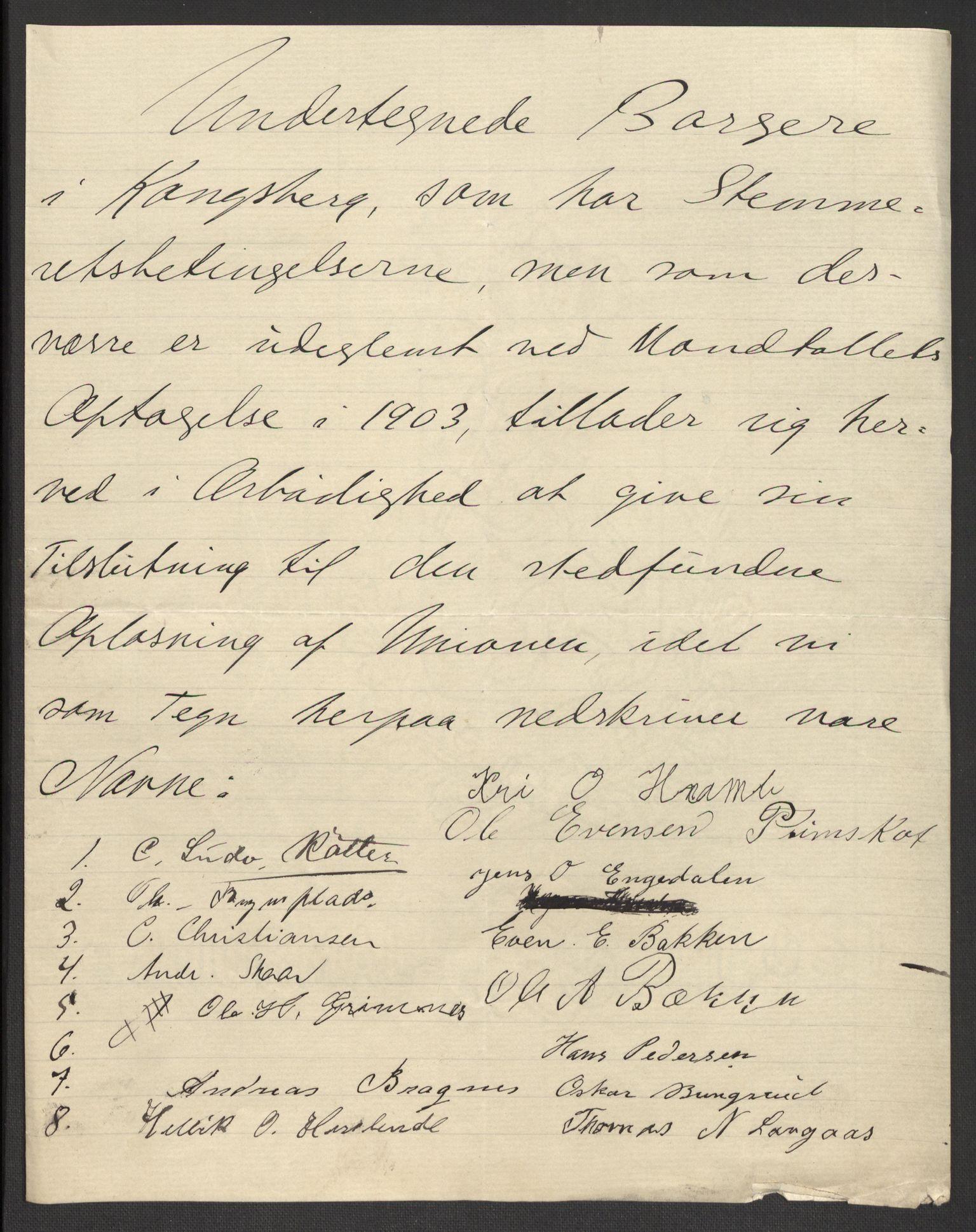 RA, Justisdepartementet, 2. sivilkontor C, F/L0125B: Folkeavstemmingen august 1905, 1905, s. 91