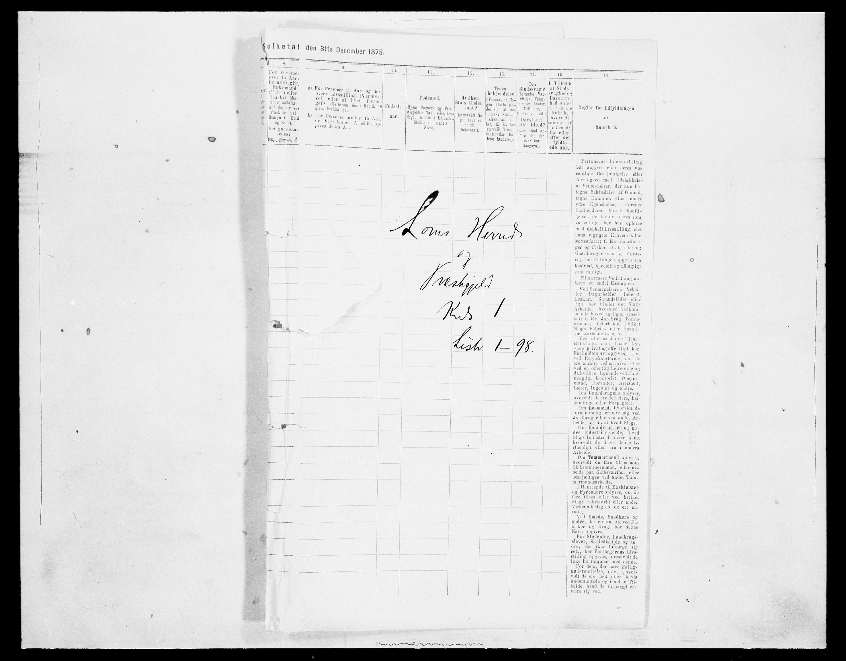 SAH, Folketelling 1875 for 0514P Lom prestegjeld, 1875, s. 57