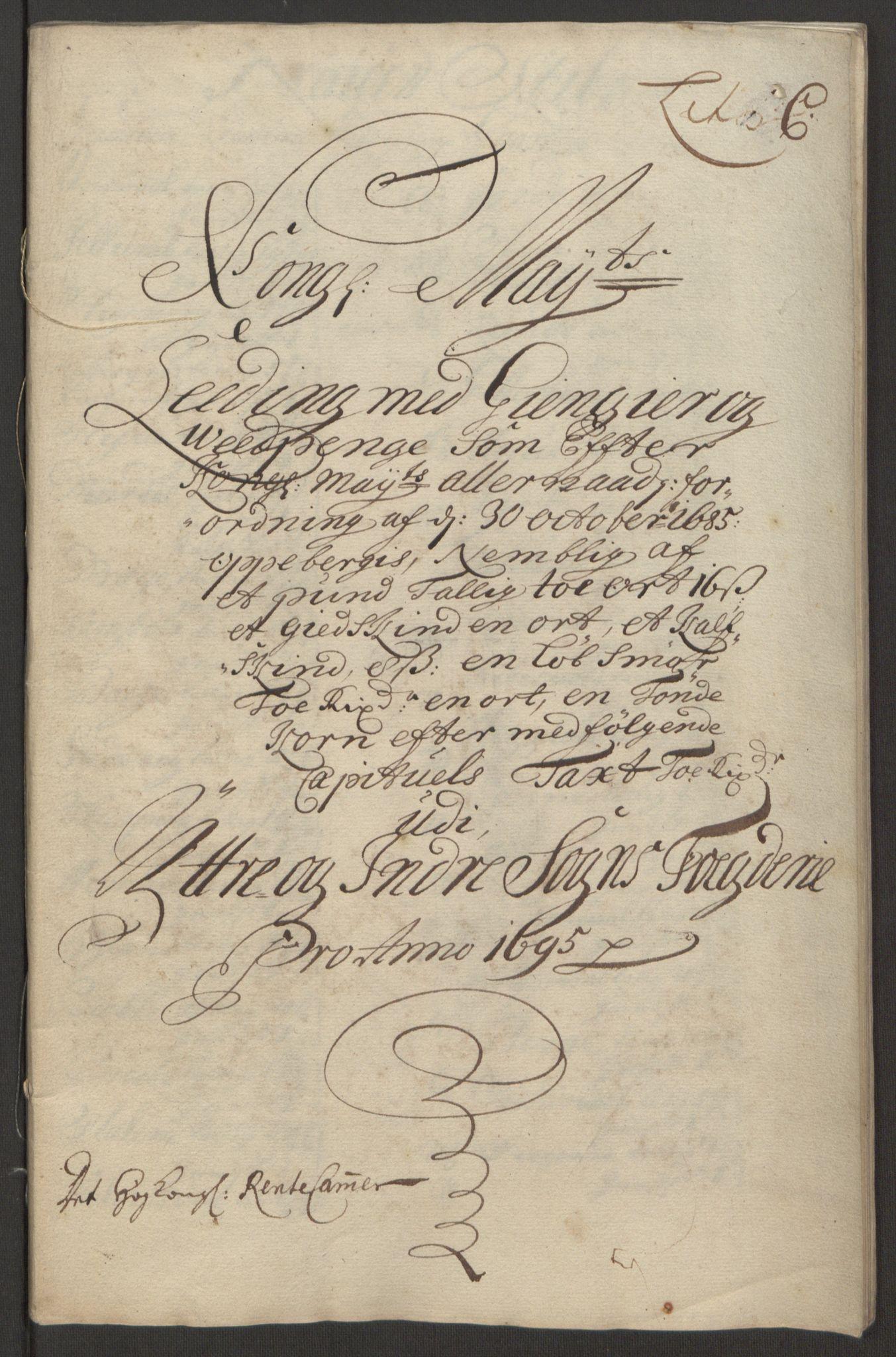 RA, Rentekammeret inntil 1814, Reviderte regnskaper, Fogderegnskap, R52/L3308: Fogderegnskap Sogn, 1695, s. 241