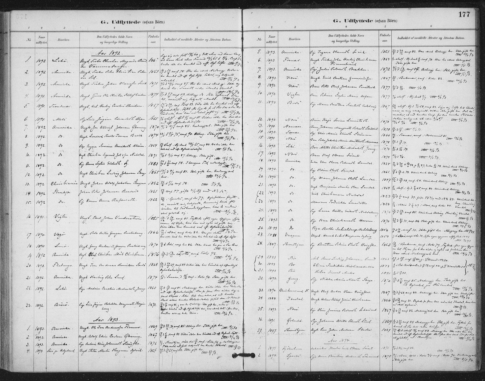 SAT, Ministerialprotokoller, klokkerbøker og fødselsregistre - Nord-Trøndelag, 780/L0644: Ministerialbok nr. 780A08, 1886-1903, s. 177