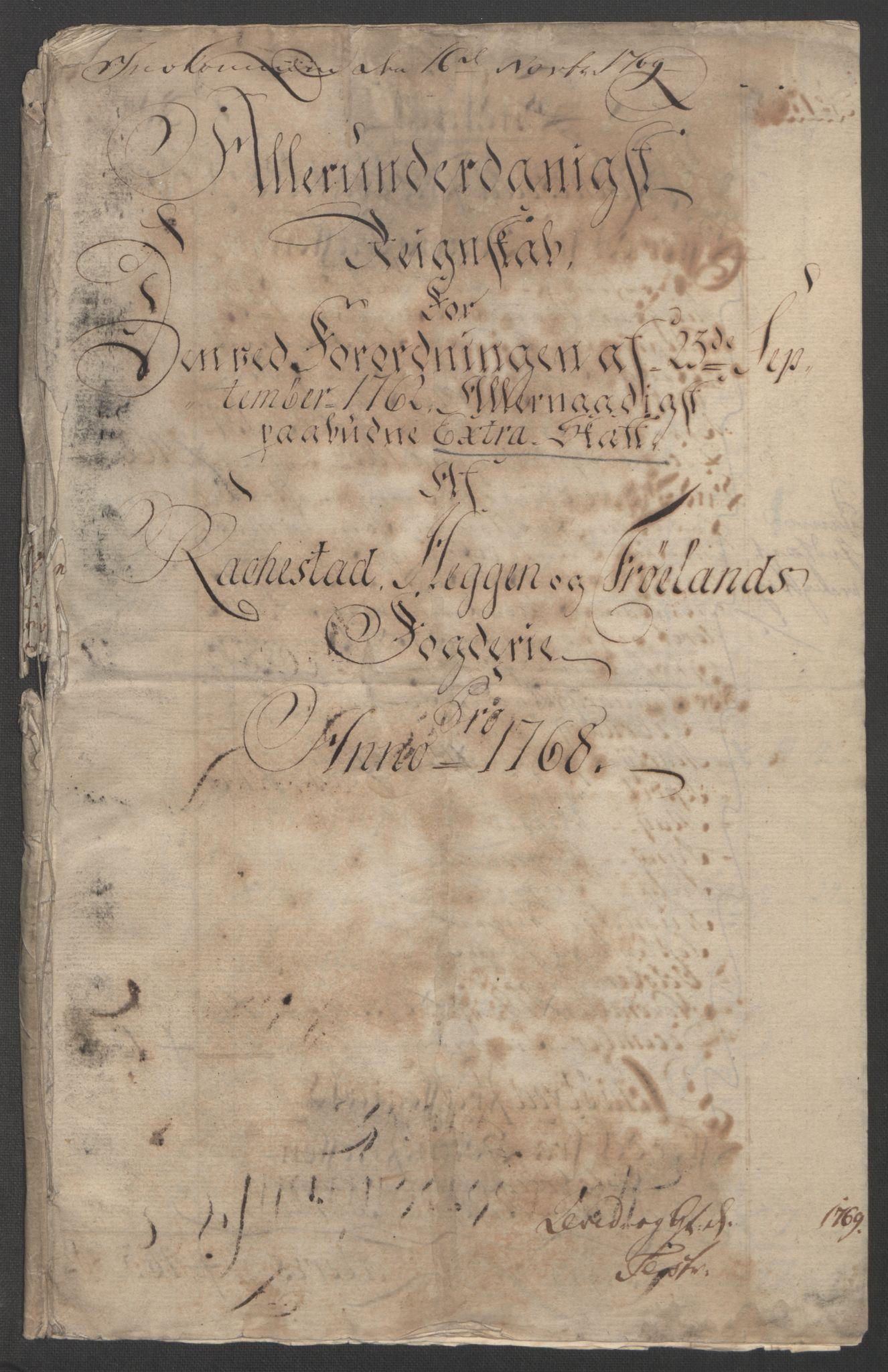 RA, Rentekammeret inntil 1814, Reviderte regnskaper, Fogderegnskap, R07/L0413: Ekstraskatten Rakkestad, Heggen og Frøland, 1762-1772, s. 365