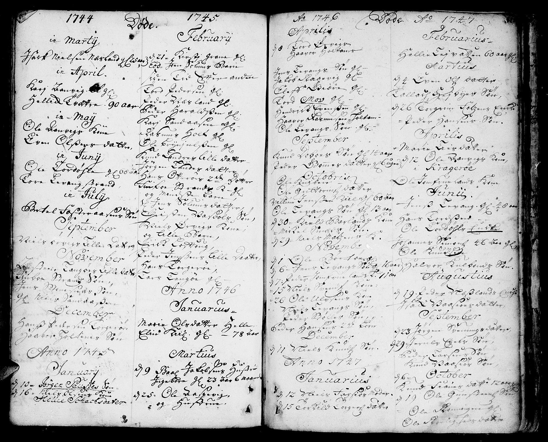 SAKO, Sannidal kirkebøker, F/Fa/L0001: Ministerialbok nr. 1, 1702-1766, s. 320-321