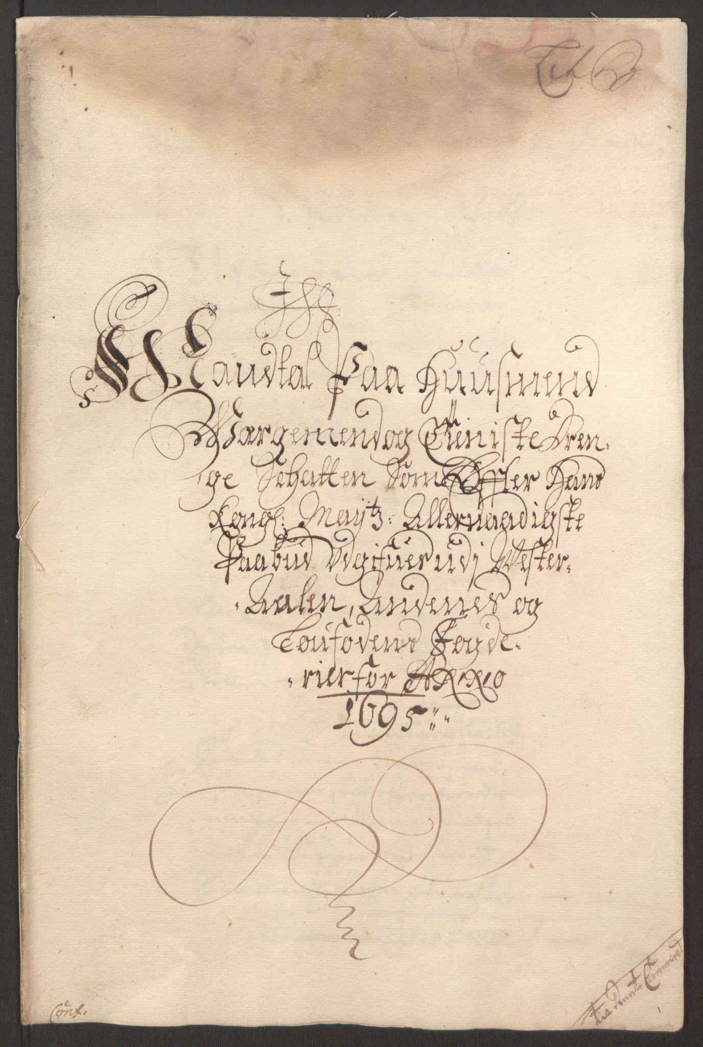 RA, Rentekammeret inntil 1814, Reviderte regnskaper, Fogderegnskap, R67/L4677: Fogderegnskap Vesterålen, Andenes og Lofoten, 1694-1695, s. 219