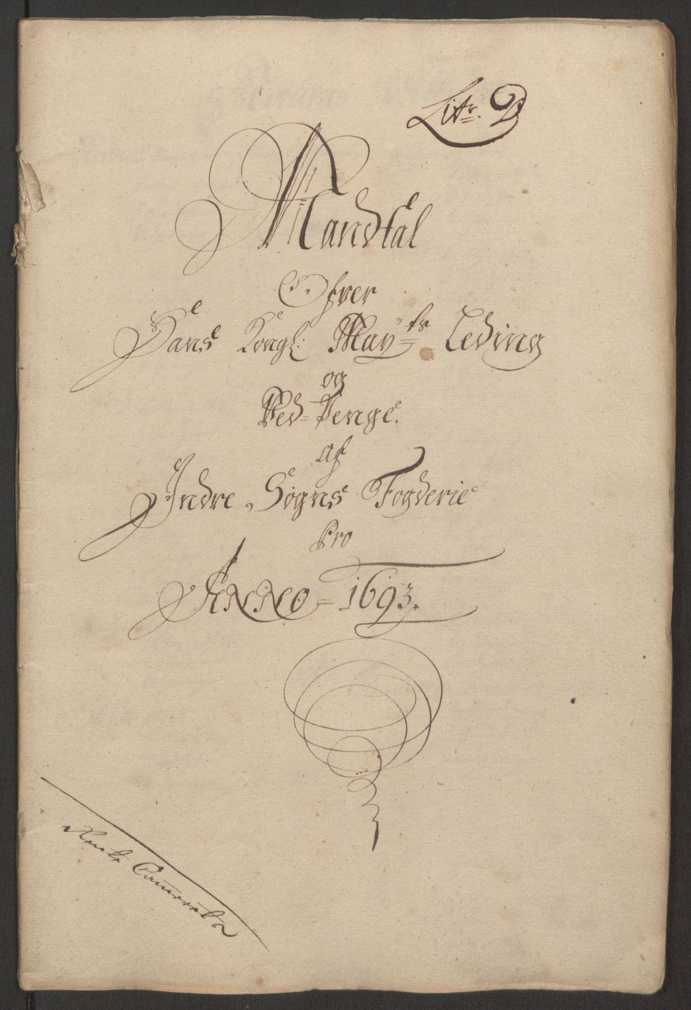 RA, Rentekammeret inntil 1814, Reviderte regnskaper, Fogderegnskap, R52/L3307: Fogderegnskap Sogn, 1693-1694, s. 98