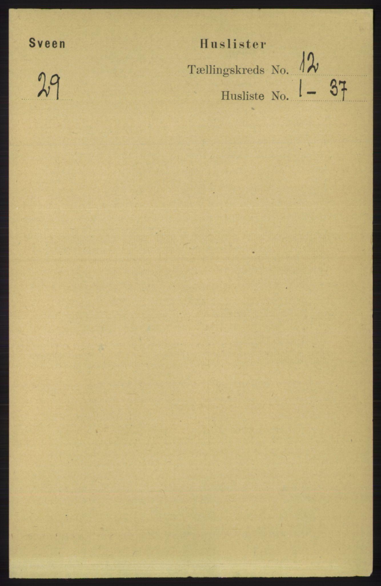 RA, Folketelling 1891 for 1216 Sveio herred, 1891, s. 3391