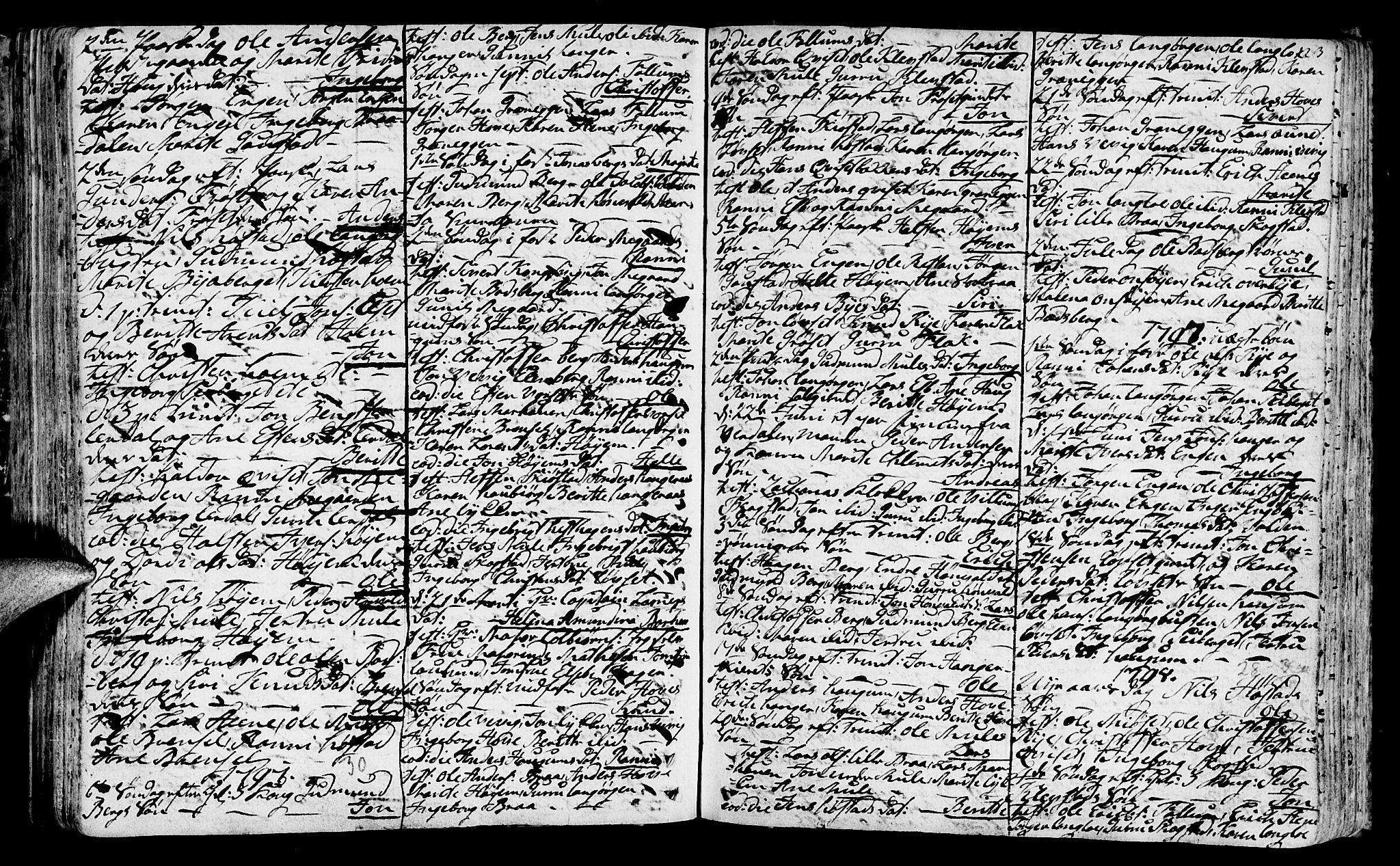 SAT, Ministerialprotokoller, klokkerbøker og fødselsregistre - Sør-Trøndelag, 612/L0370: Ministerialbok nr. 612A04, 1754-1802, s. 123