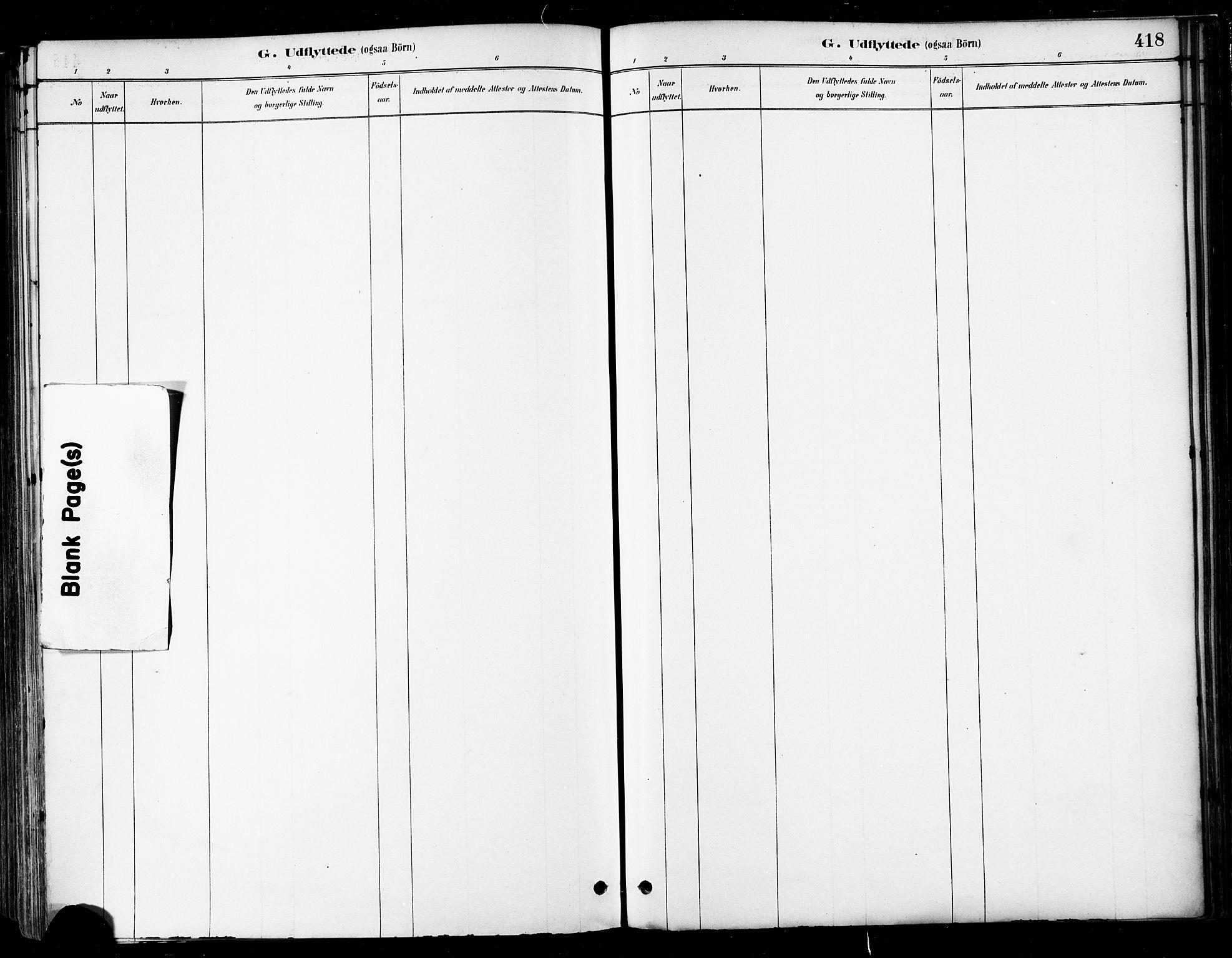 SAT, Ministerialprotokoller, klokkerbøker og fødselsregistre - Nordland, 802/L0054: Ministerialbok nr. 802A01, 1879-1893, s. 418