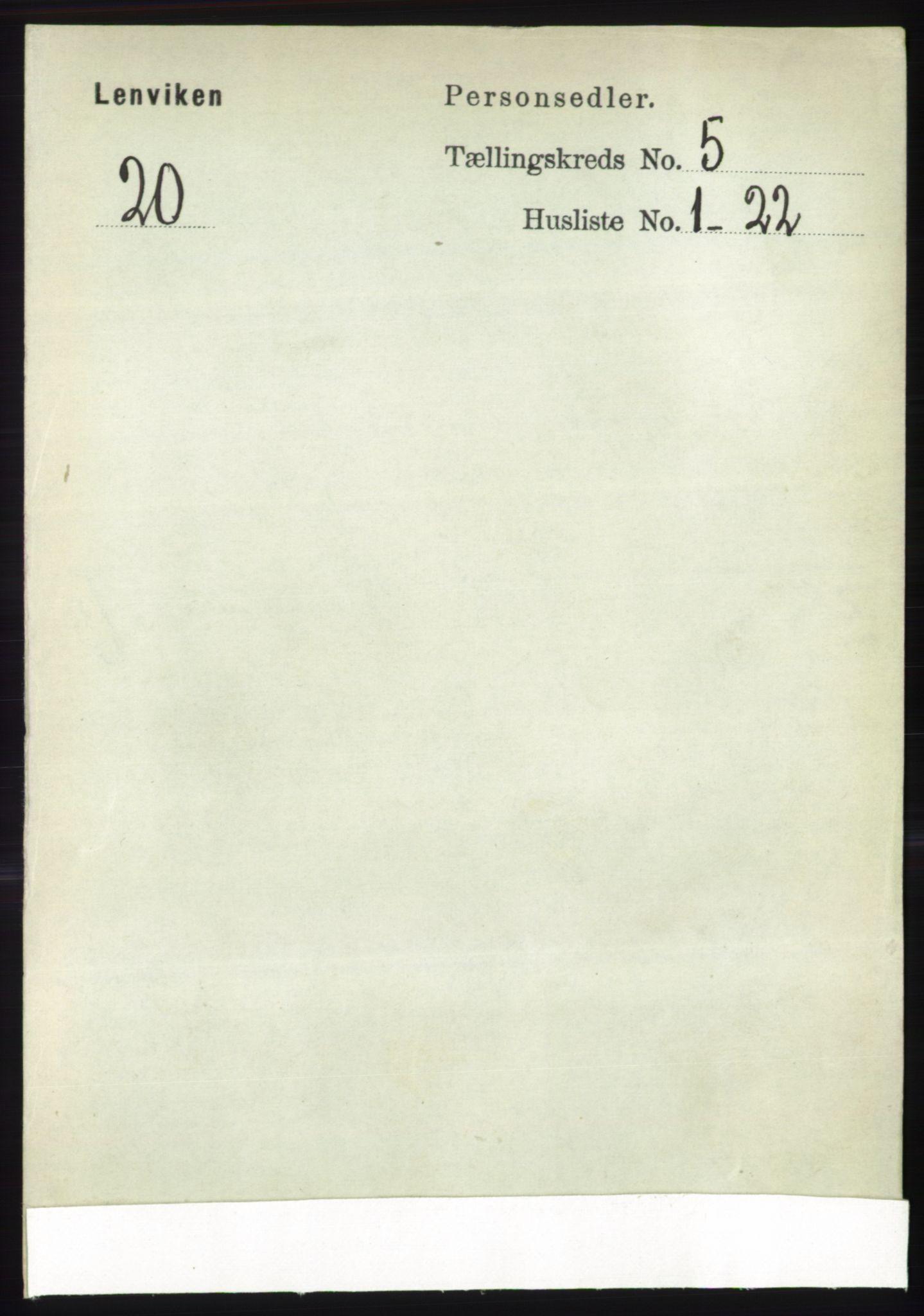 RA, Folketelling 1891 for 1931 Lenvik herred, 1891, s. 2548