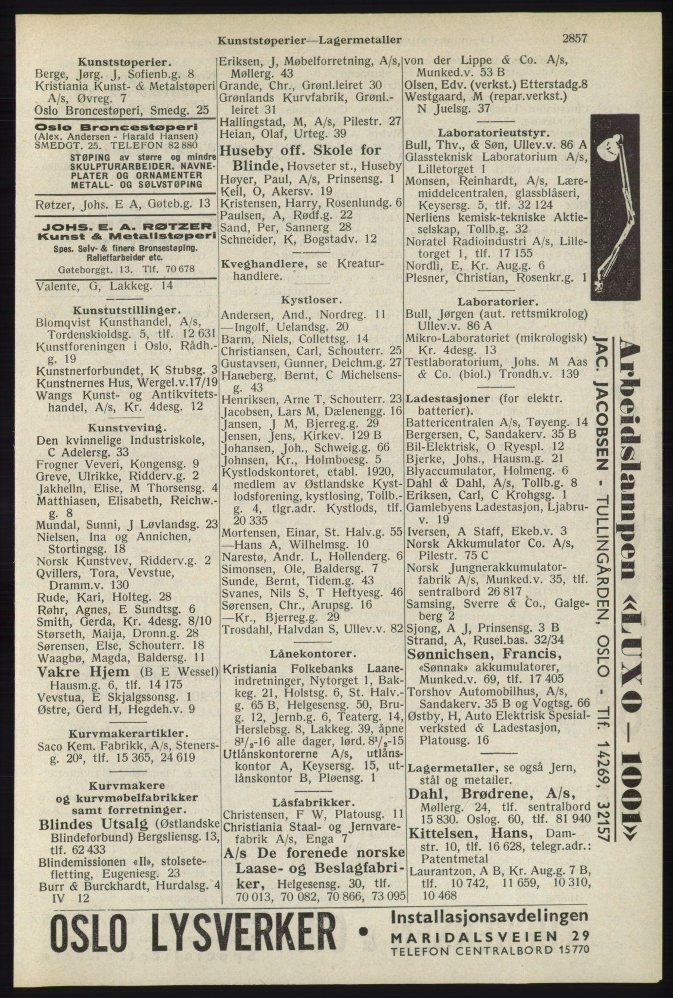 RA, Oslo adressebok (publikasjon)*, 1940, s. 2857
