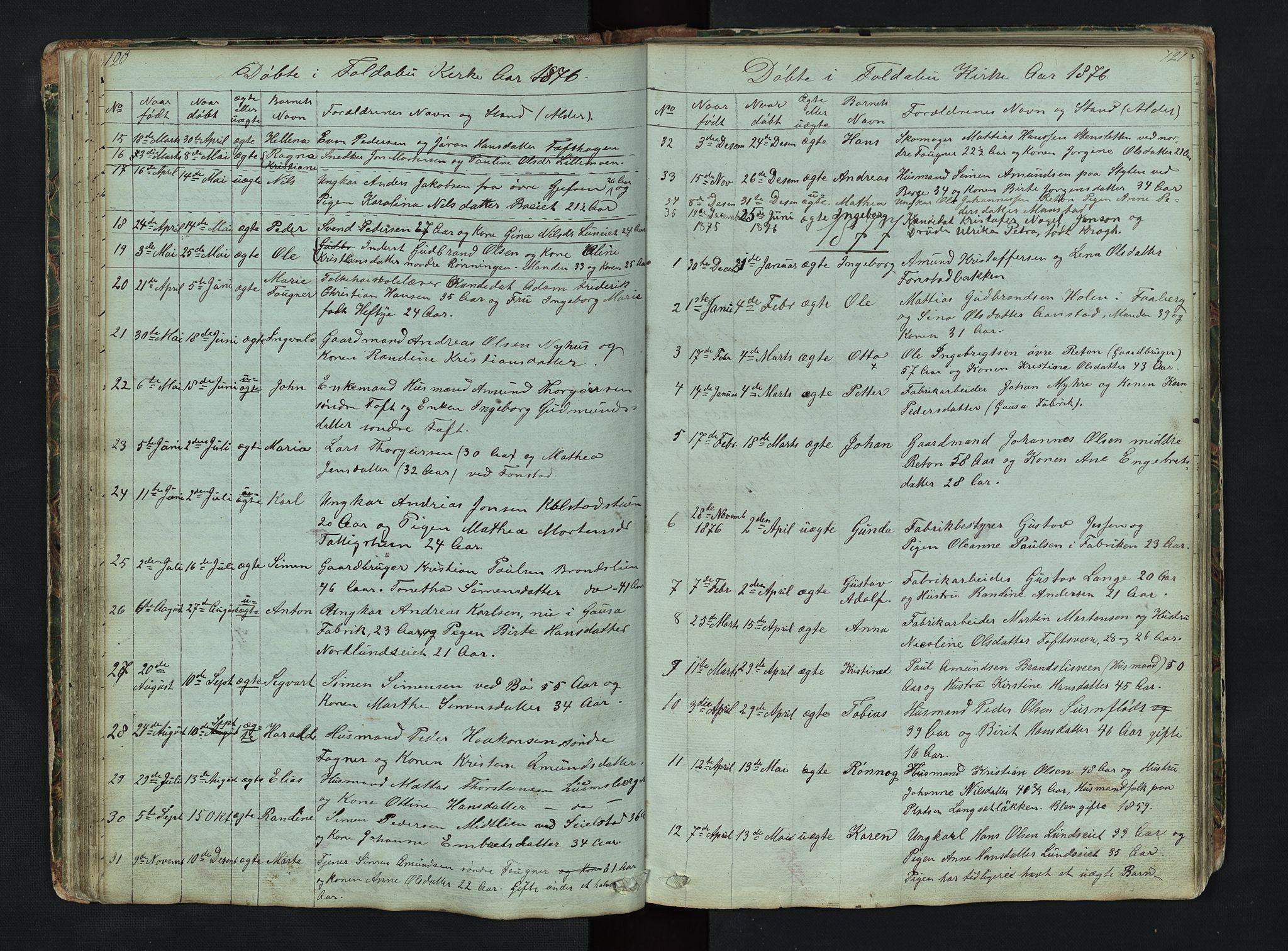 SAH, Gausdal prestekontor, Klokkerbok nr. 6, 1846-1893, s. 120-121