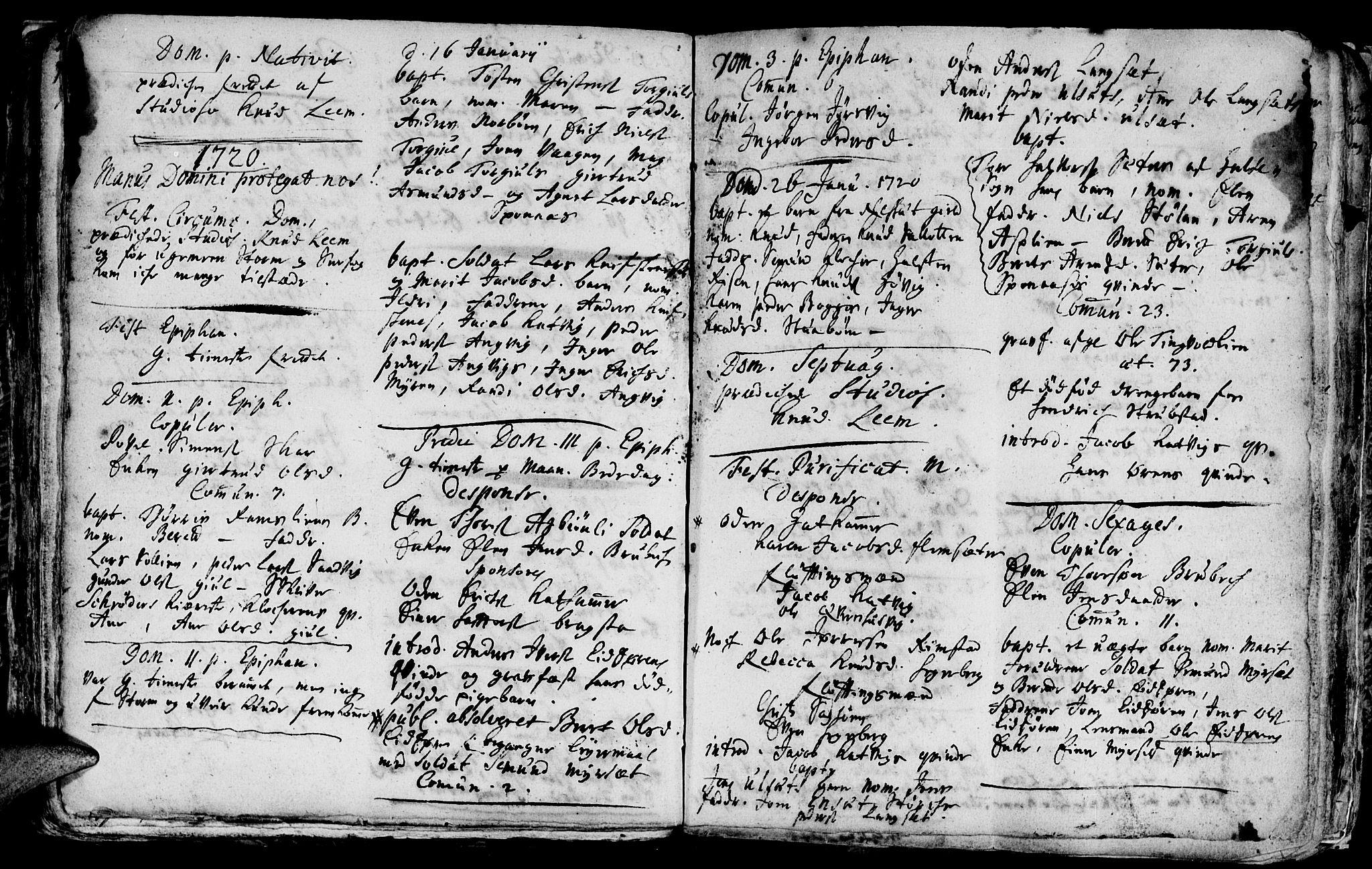 SAT, Ministerialprotokoller, klokkerbøker og fødselsregistre - Møre og Romsdal, 586/L0977: Ministerialbok nr. 586A03, 1706-1731