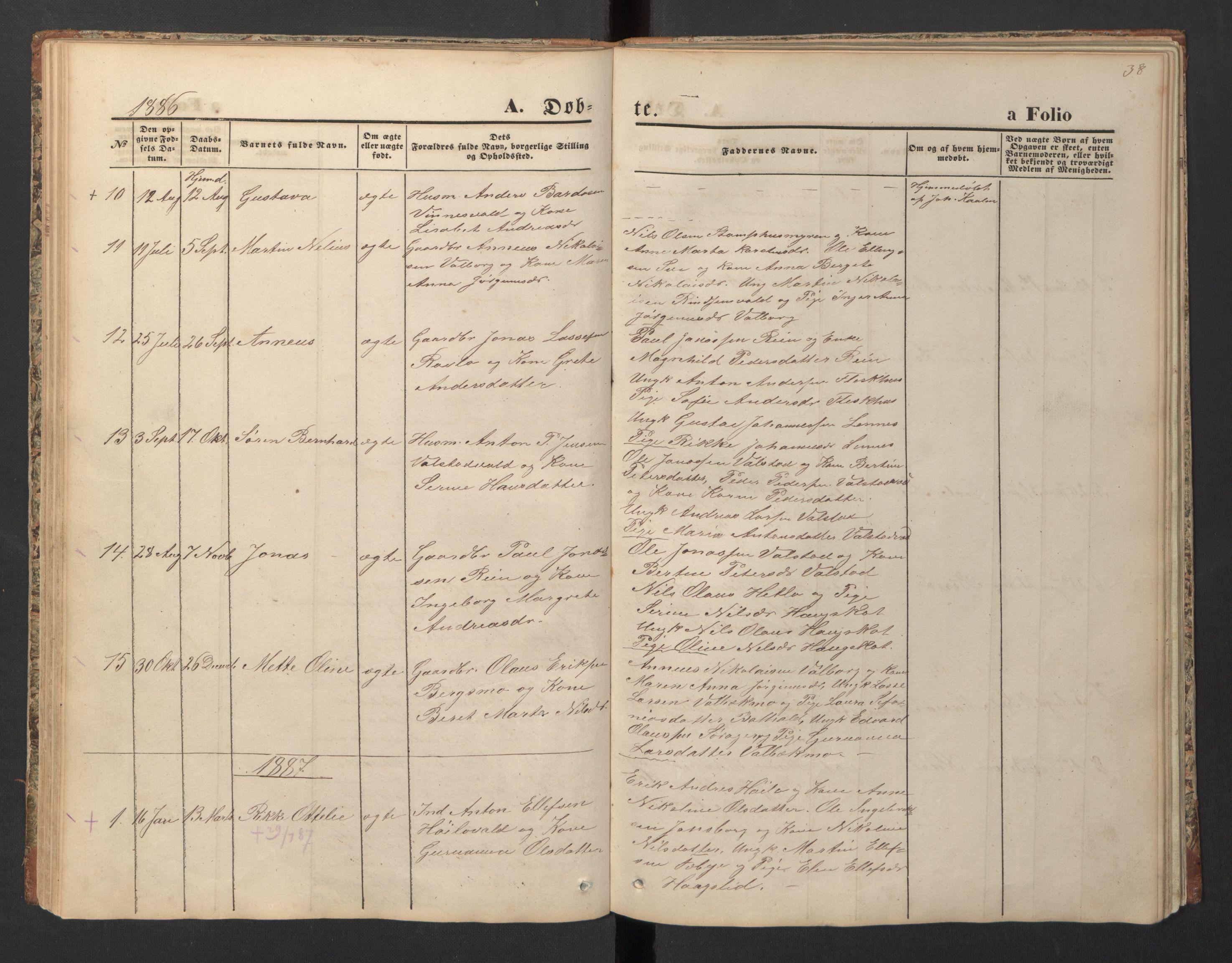 SAT, Ministerialprotokoller, klokkerbøker og fødselsregistre - Nord-Trøndelag, 726/L0271: Klokkerbok nr. 726C02, 1869-1897, s. 38