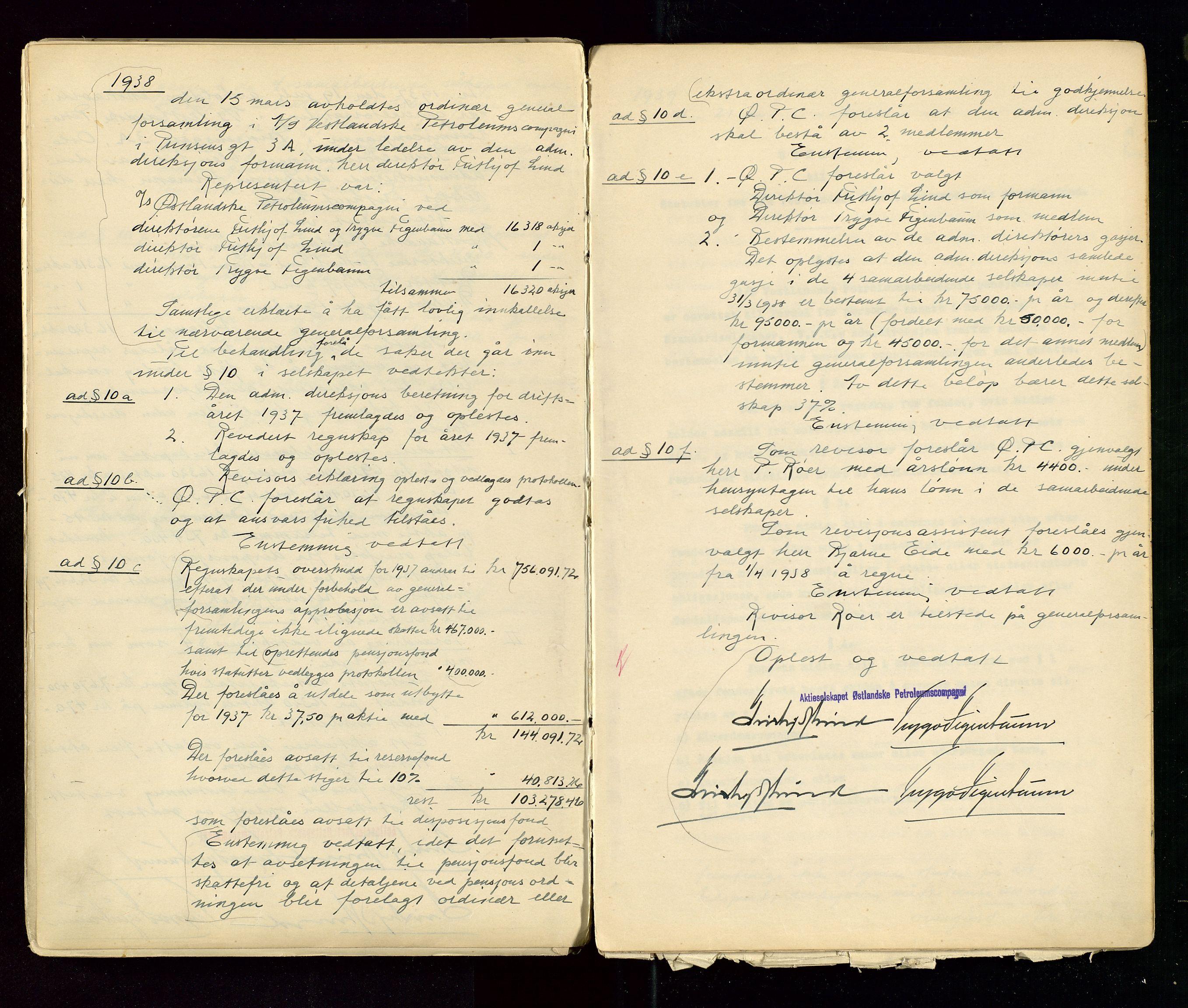 SAST, PA 1533 - A/S Vestlandske Petroleumscompani, A/Aa/L0001: Generalforsamlinger og styreprotokoller, 1890-1953, s. 114