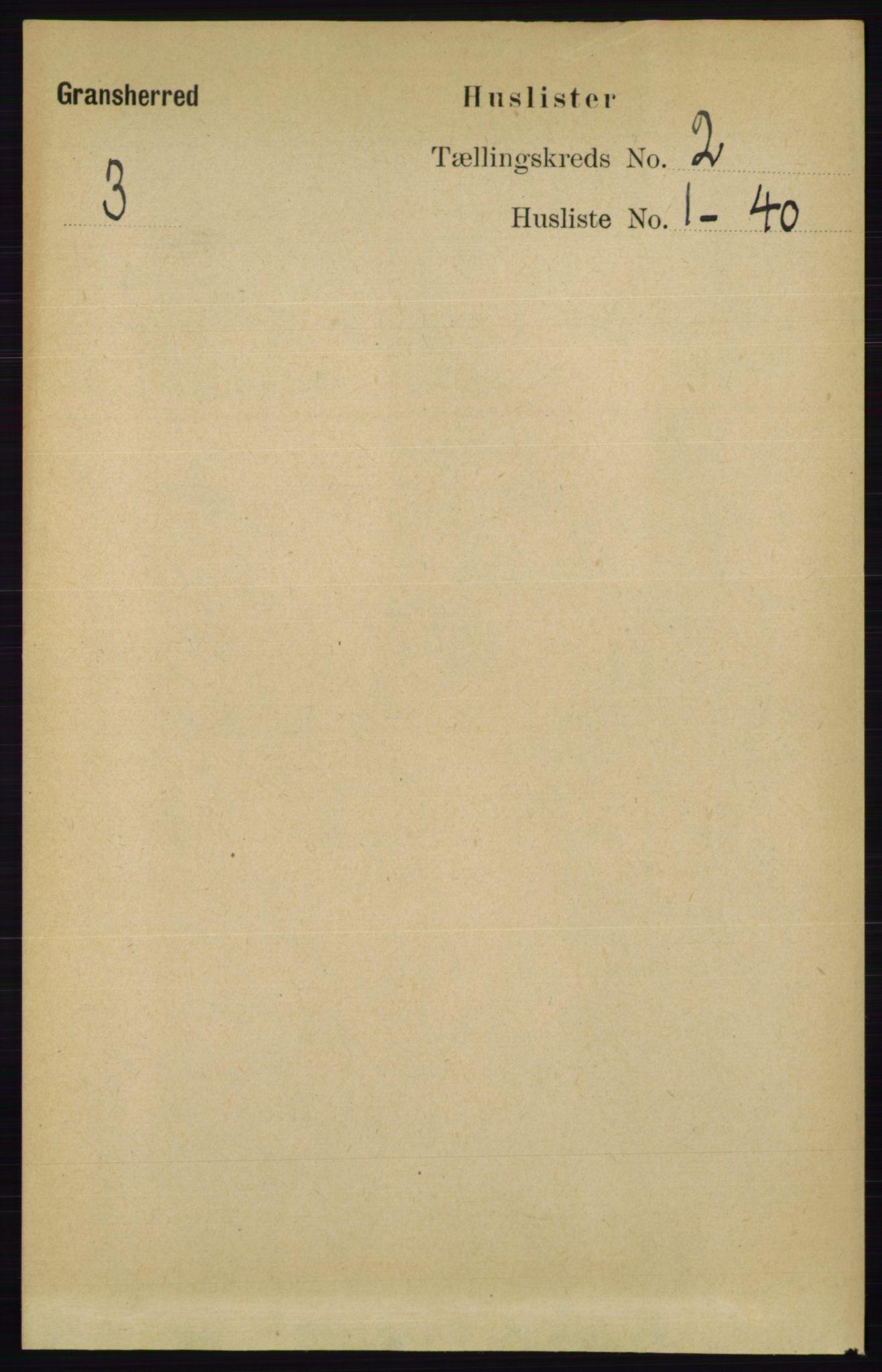 RA, Folketelling 1891 for 0824 Gransherad herred, 1891, s. 244