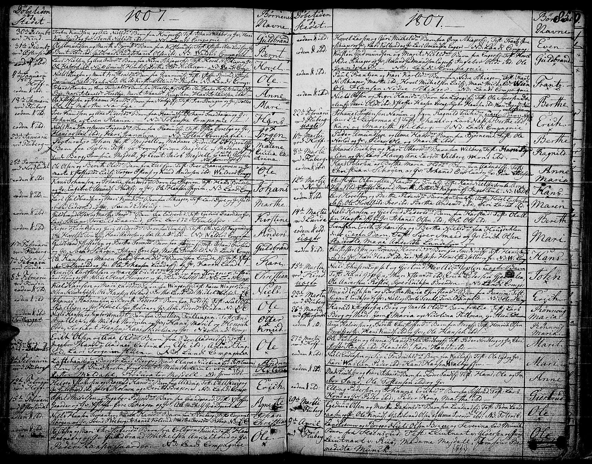SAH, Land prestekontor, Ministerialbok nr. 6, 1784-1813, s. 85