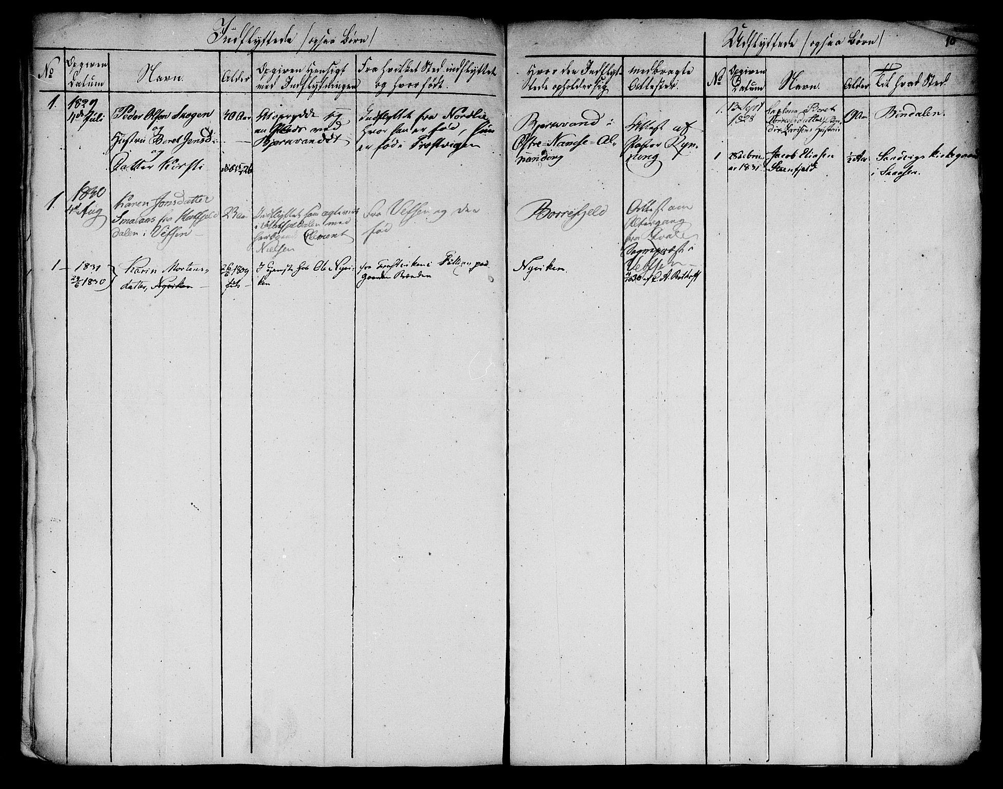 SAT, Ministerialprotokoller, klokkerbøker og fødselsregistre - Nord-Trøndelag, 762/L0536: Ministerialbok nr. 762A01 /1, 1828-1832, s. 10