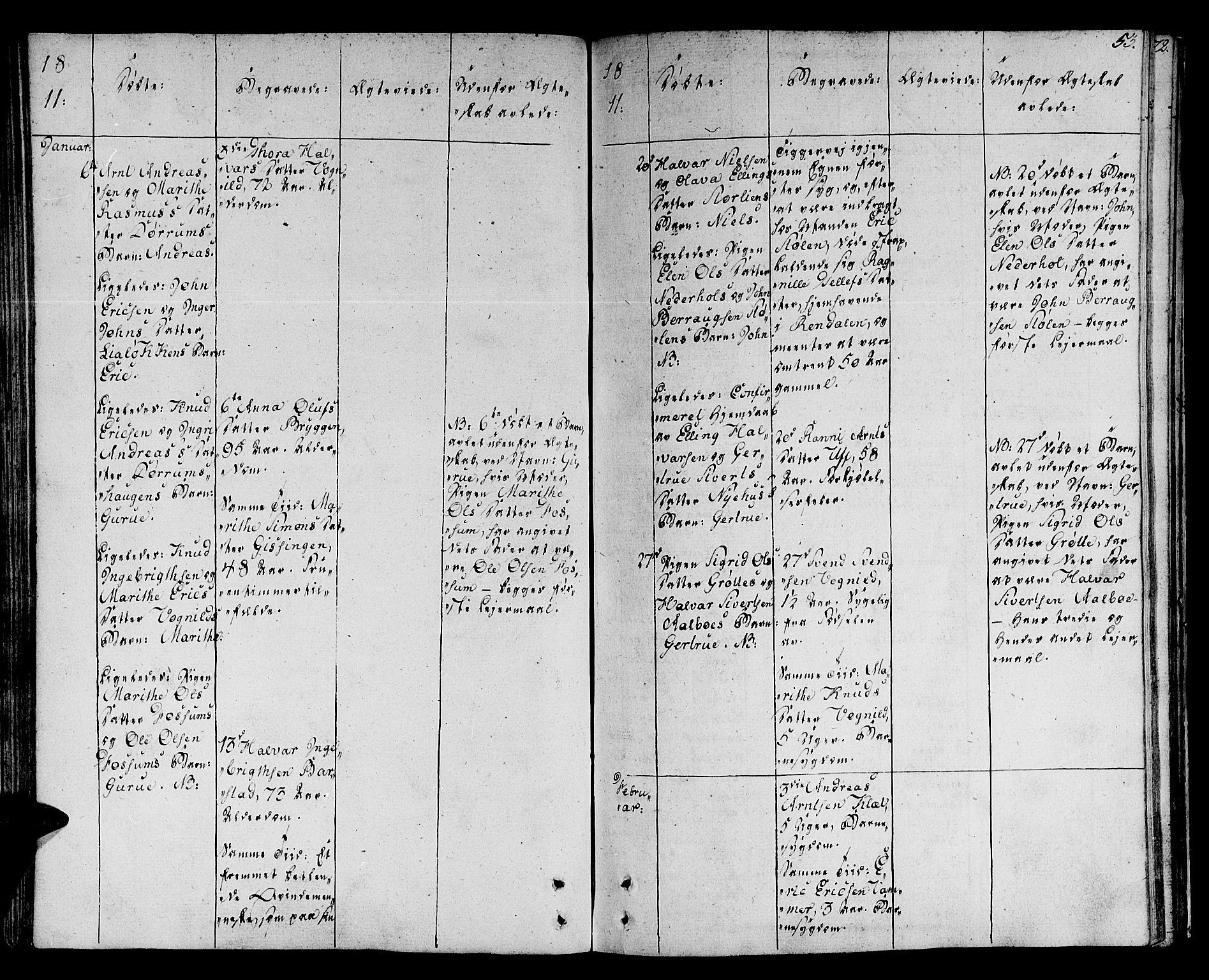 SAT, Ministerialprotokoller, klokkerbøker og fødselsregistre - Sør-Trøndelag, 678/L0894: Ministerialbok nr. 678A04, 1806-1815, s. 53