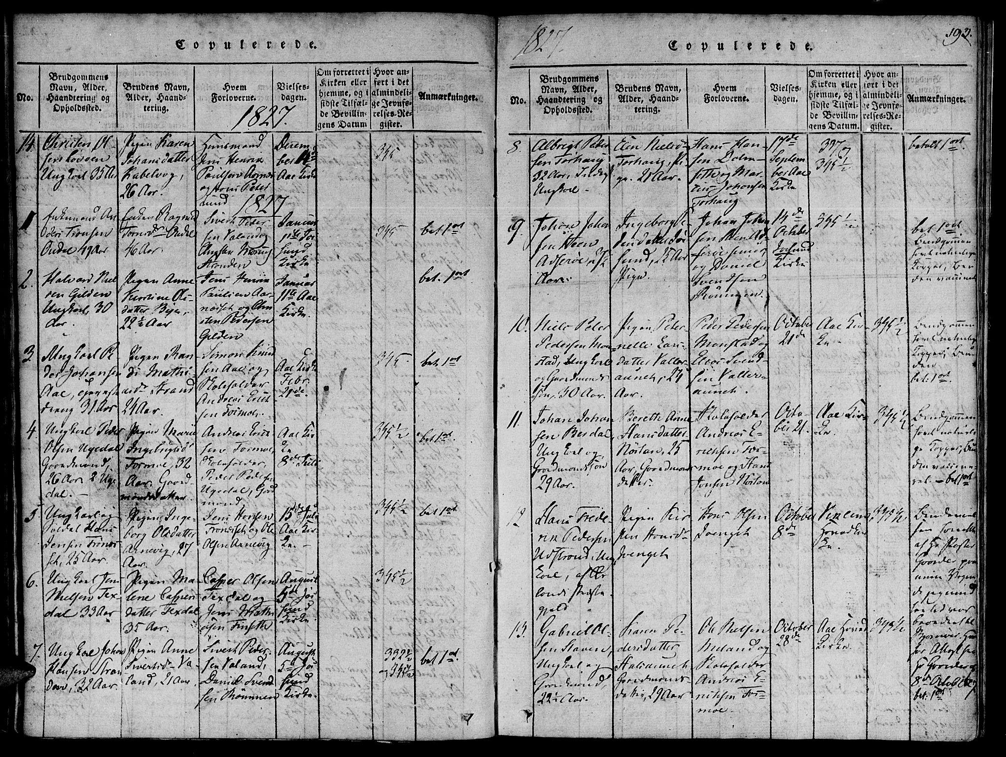 SAT, Ministerialprotokoller, klokkerbøker og fødselsregistre - Sør-Trøndelag, 655/L0675: Ministerialbok nr. 655A04, 1818-1830, s. 193