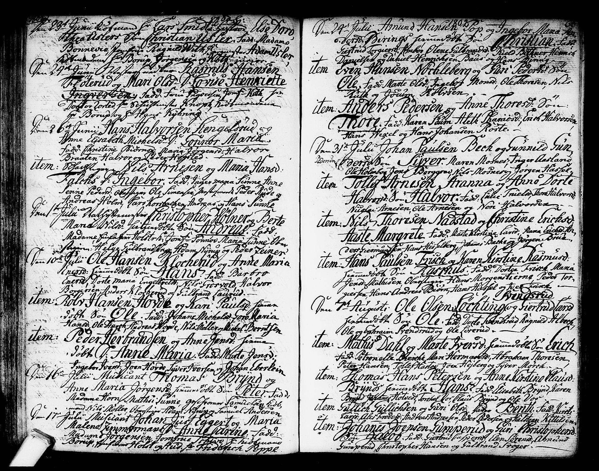 SAKO, Kongsberg kirkebøker, F/Fa/L0007: Ministerialbok nr. I 7, 1795-1816, s. 66