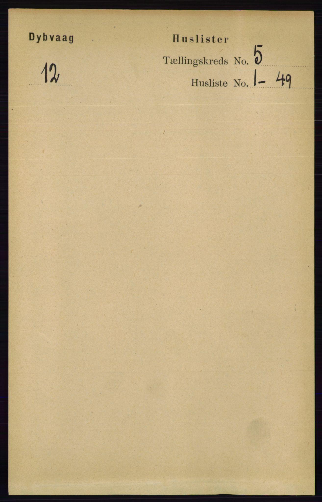 RA, Folketelling 1891 for 0915 Dypvåg herred, 1891, s. 1314