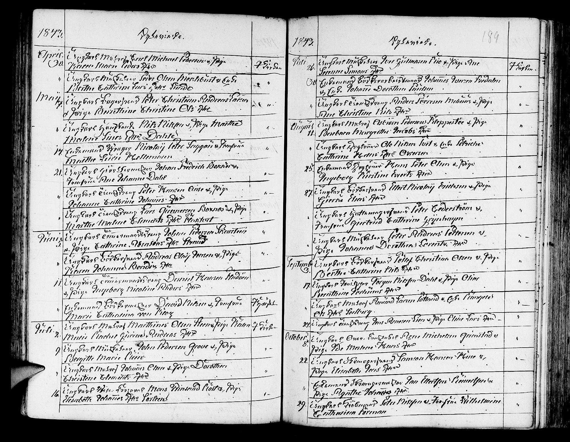 SAB, Korskirken Sokneprestembete, H/Haa/L0009: Ministerialbok nr. A 9, 1743-1861, s. 189