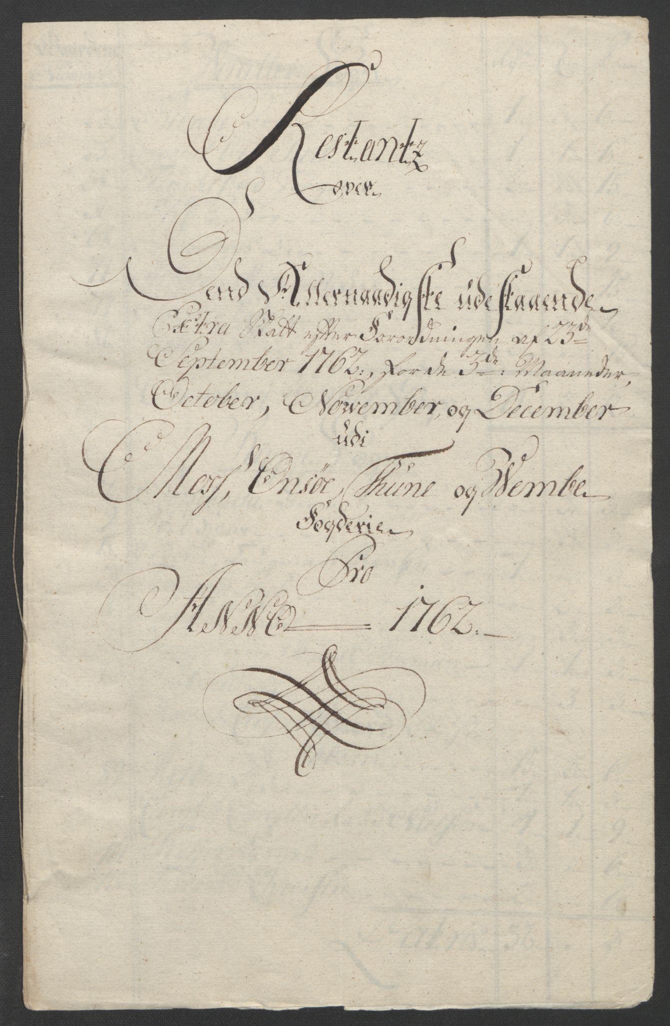 RA, Rentekammeret inntil 1814, Reviderte regnskaper, Fogderegnskap, R04/L0260: Ekstraskatten Moss, Onsøy, Tune, Veme og Åbygge, 1762, s. 332